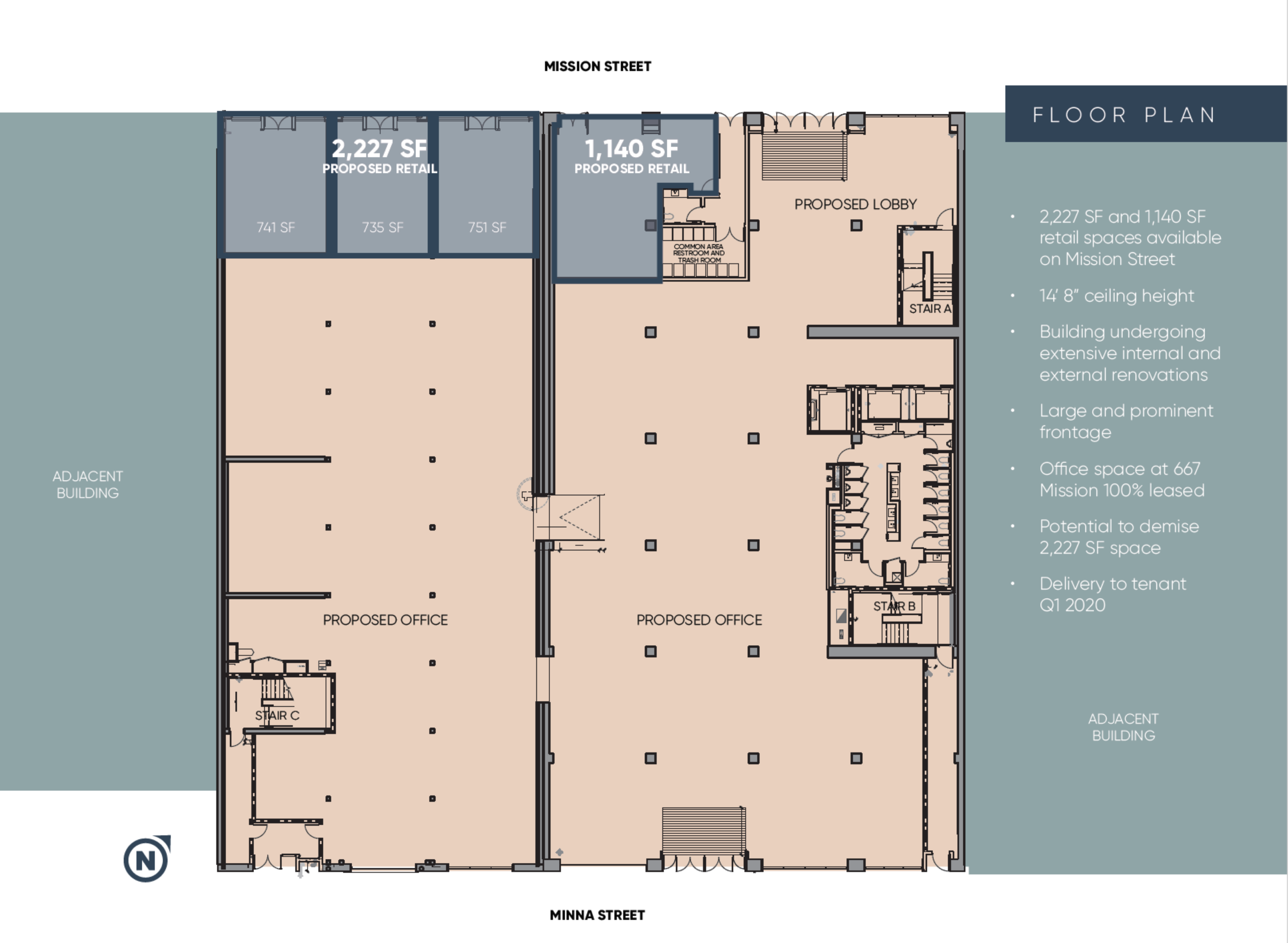 667 Mission Street: site plan