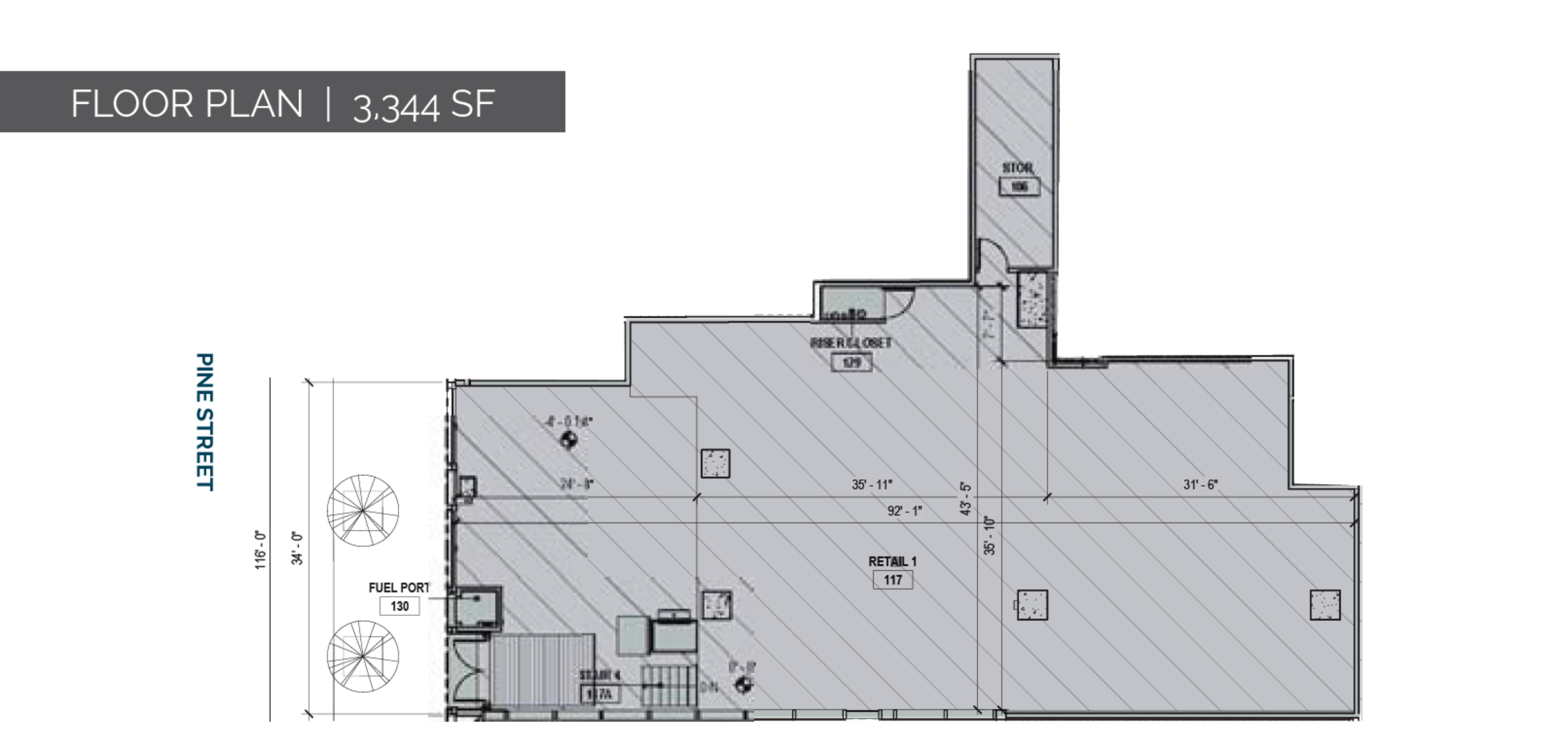 350 Bush & 463 Pine Street: site plan
