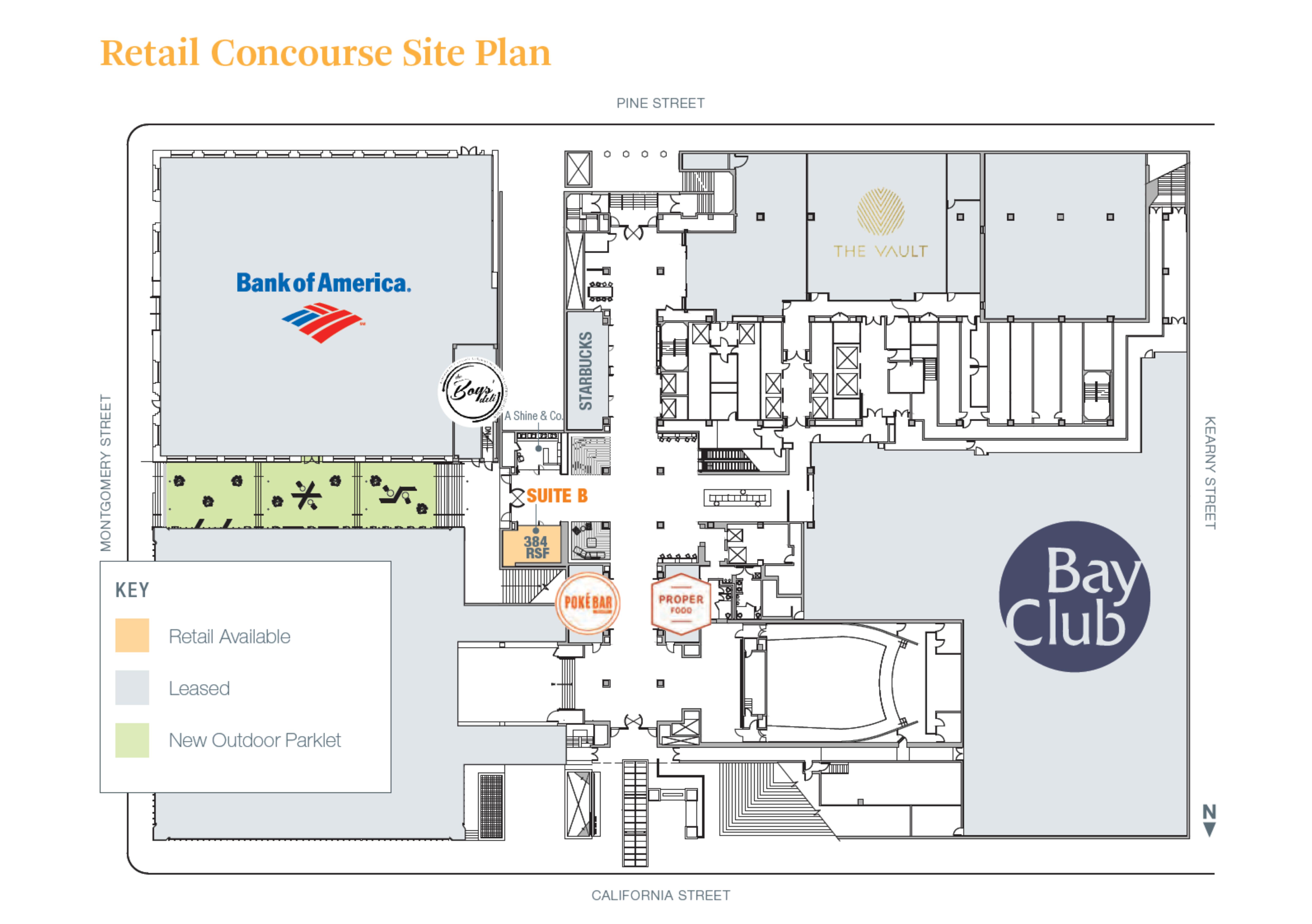 555 California Street: site plan