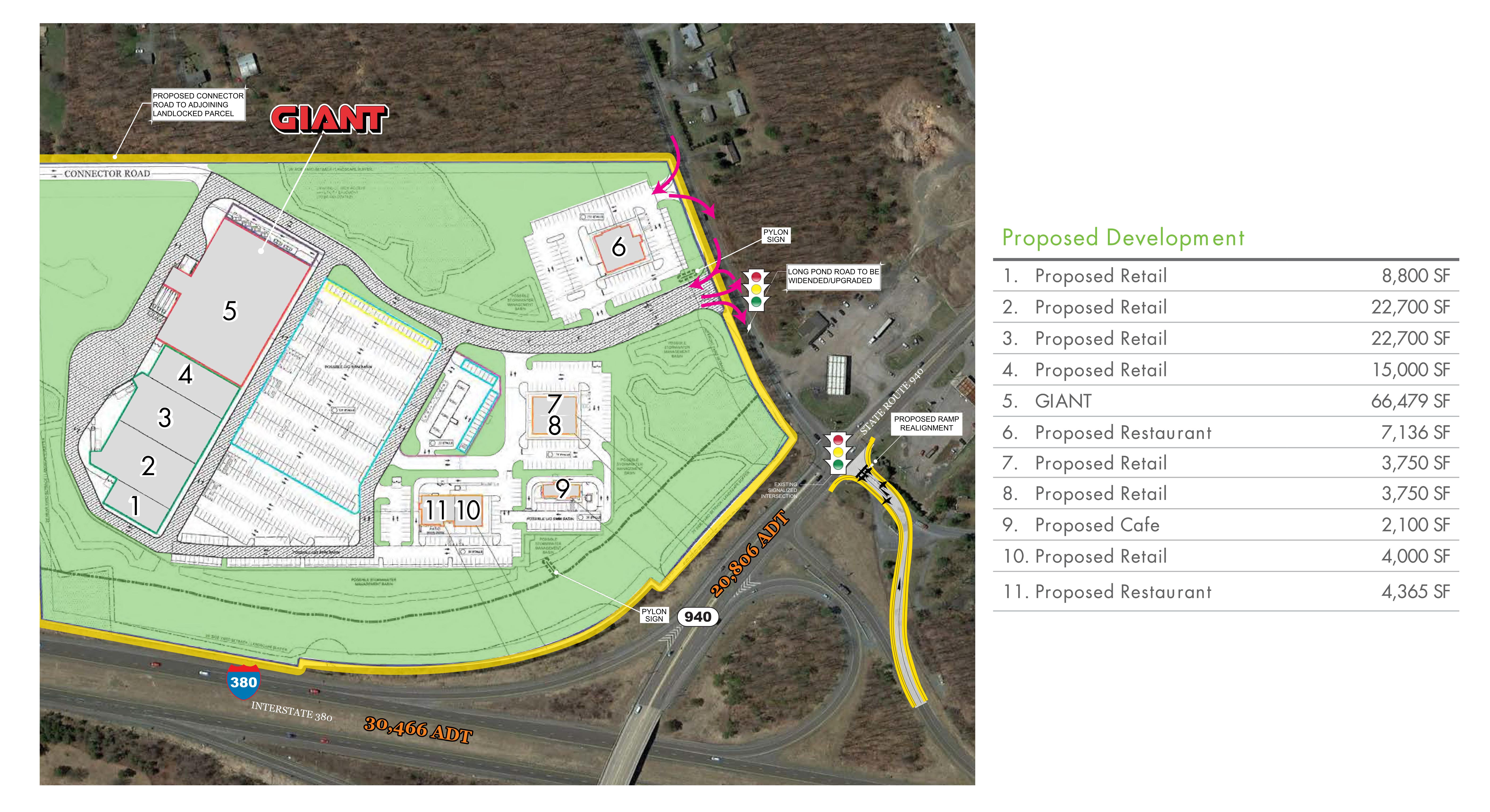 Route 940 & I-380 Interchange: site plan