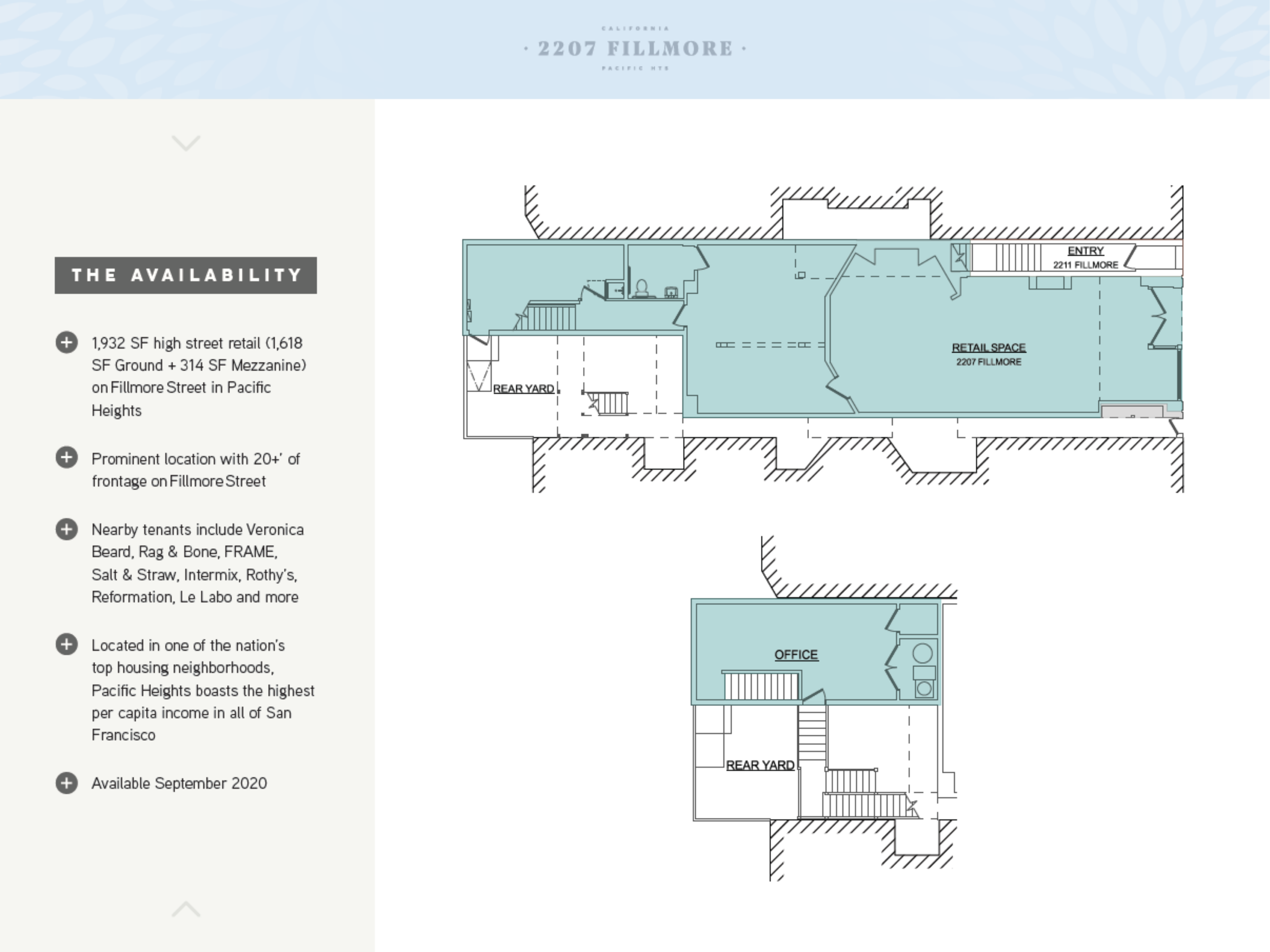2207 Fillmore Street: site plan