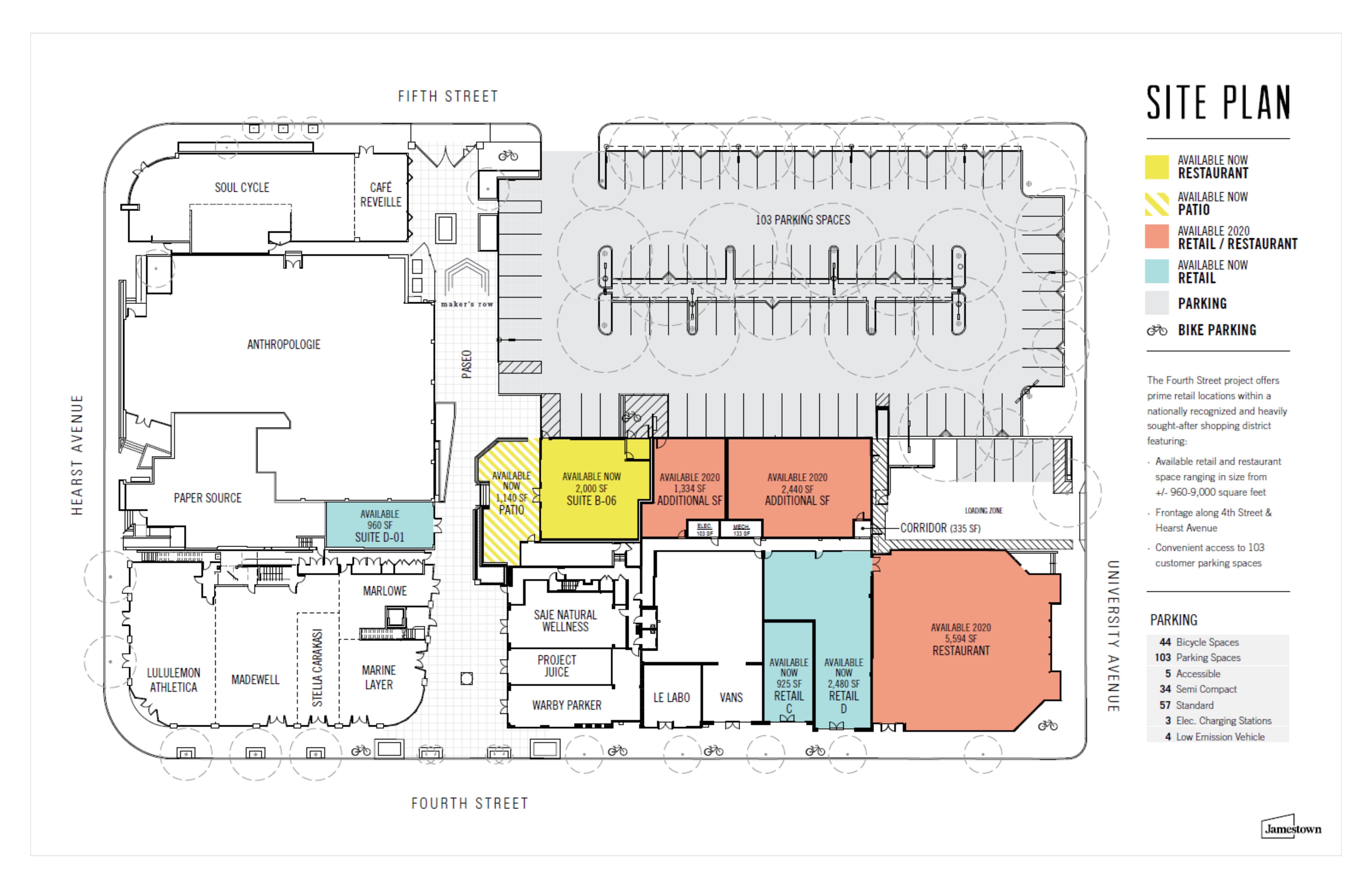 1919 Fourth Street - Berkeley: site plan