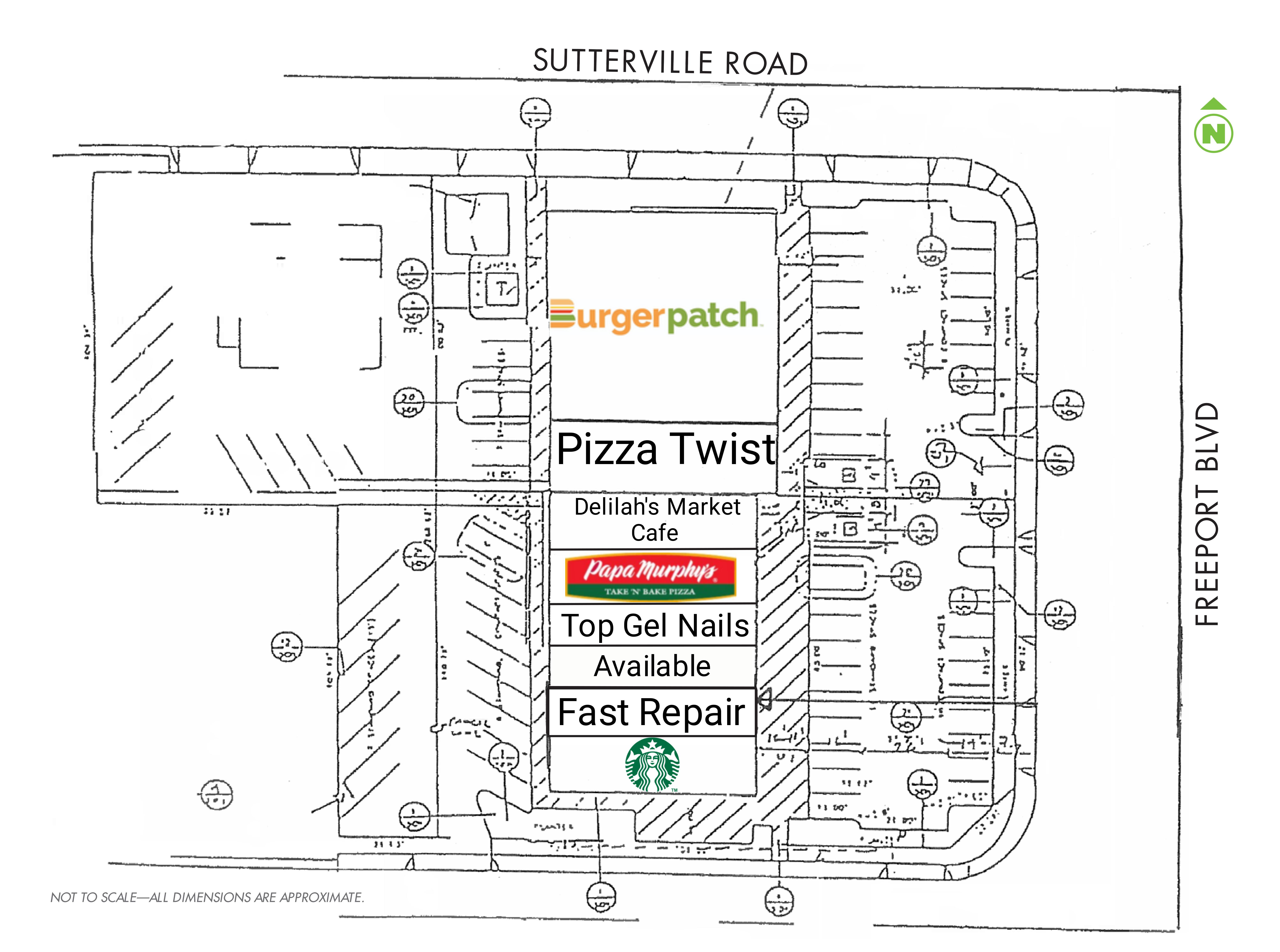 Sutterville Square: site plan