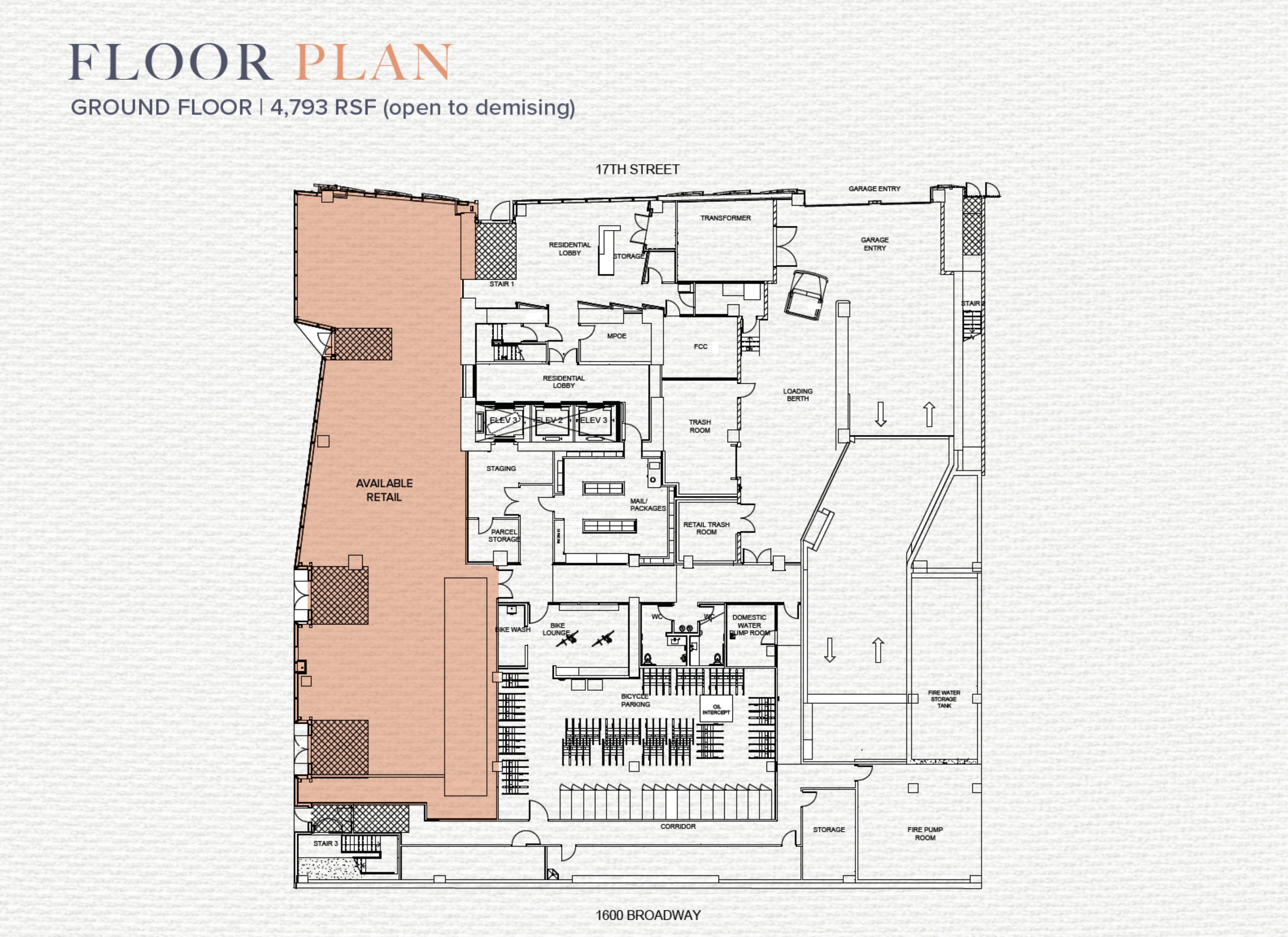 17th & Broadway: site plan