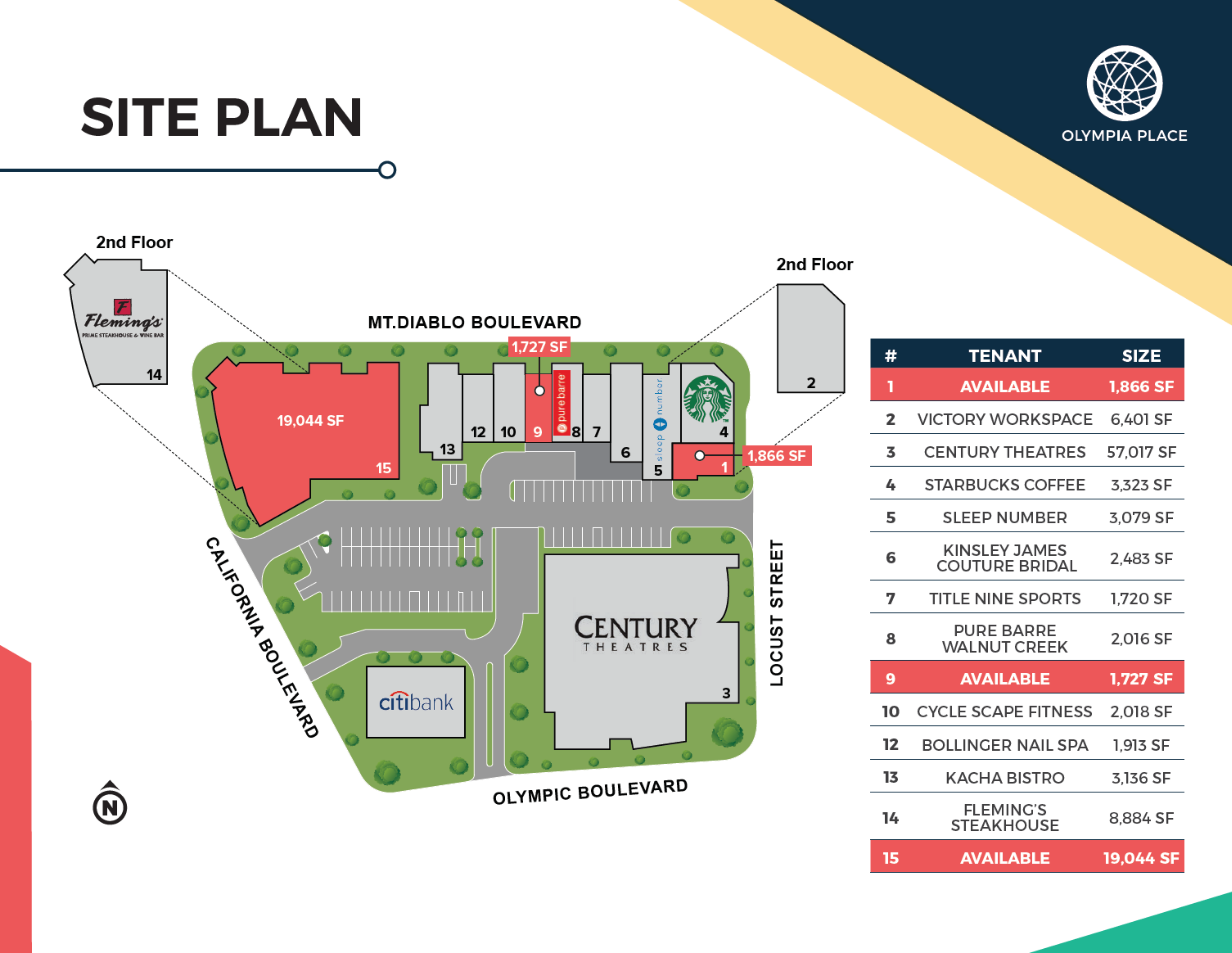 Olympia Place: site plan