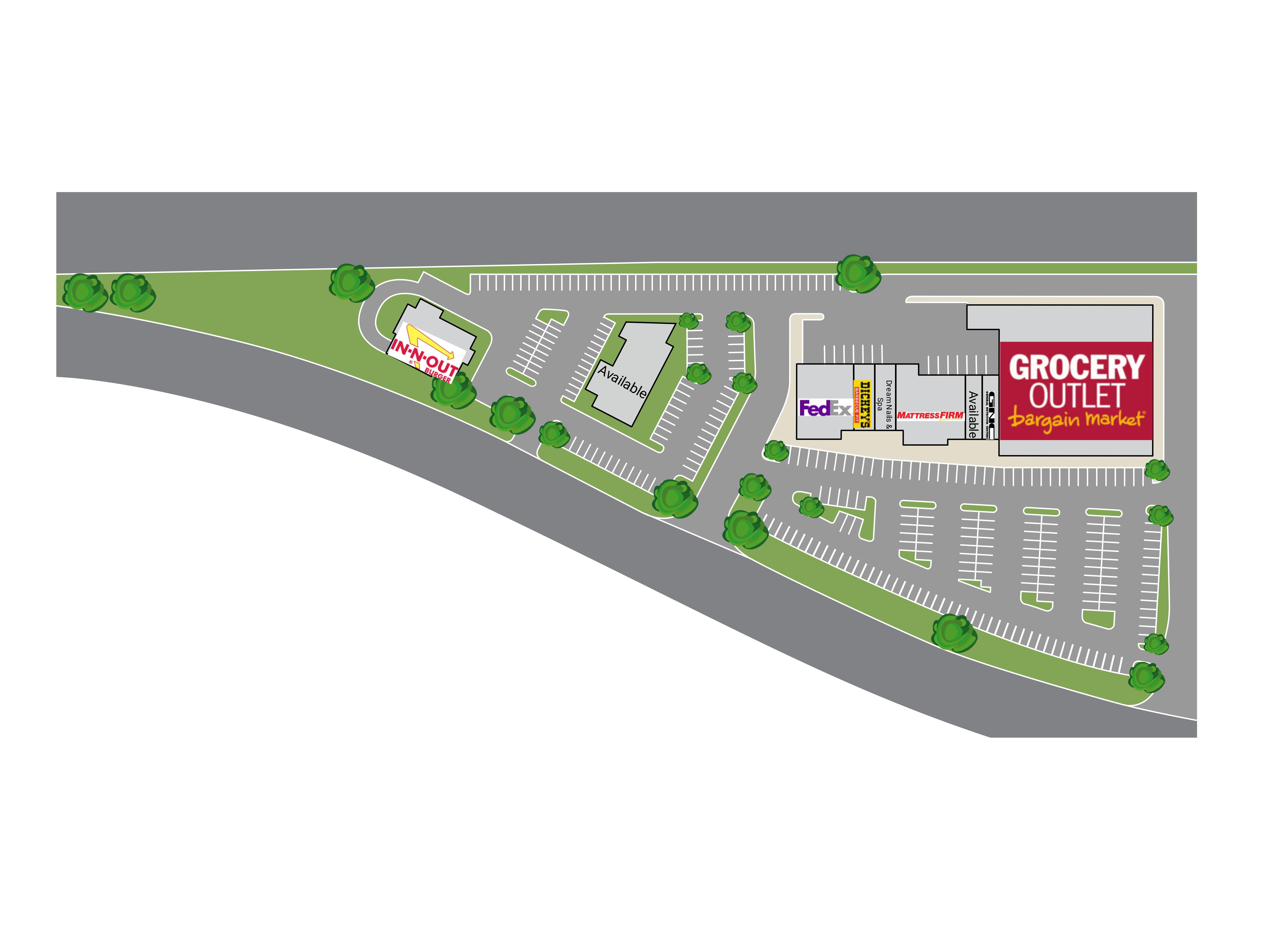 130-160 Nut Tree Parkway: site plan