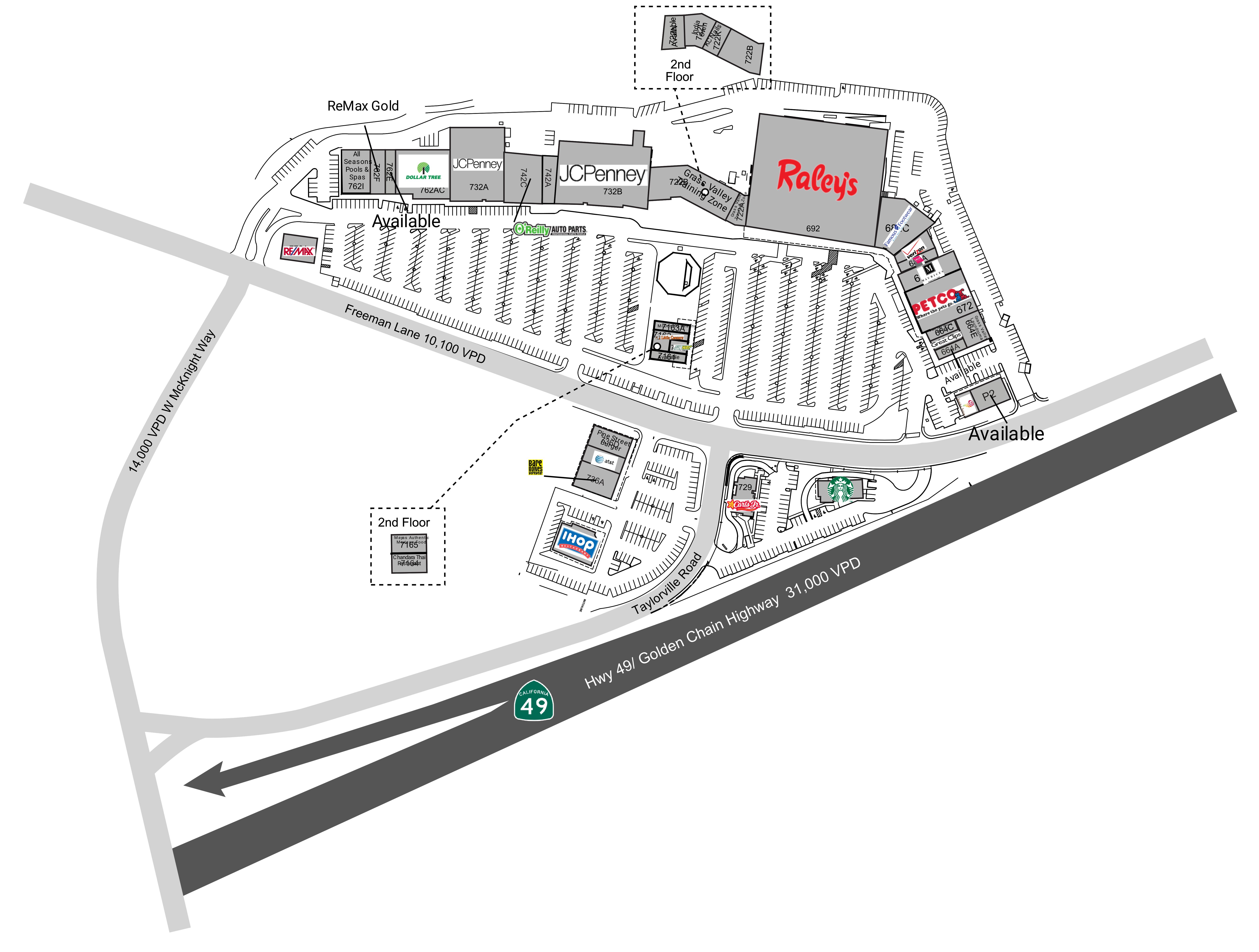 Pine Creek Shopping Center: site plan