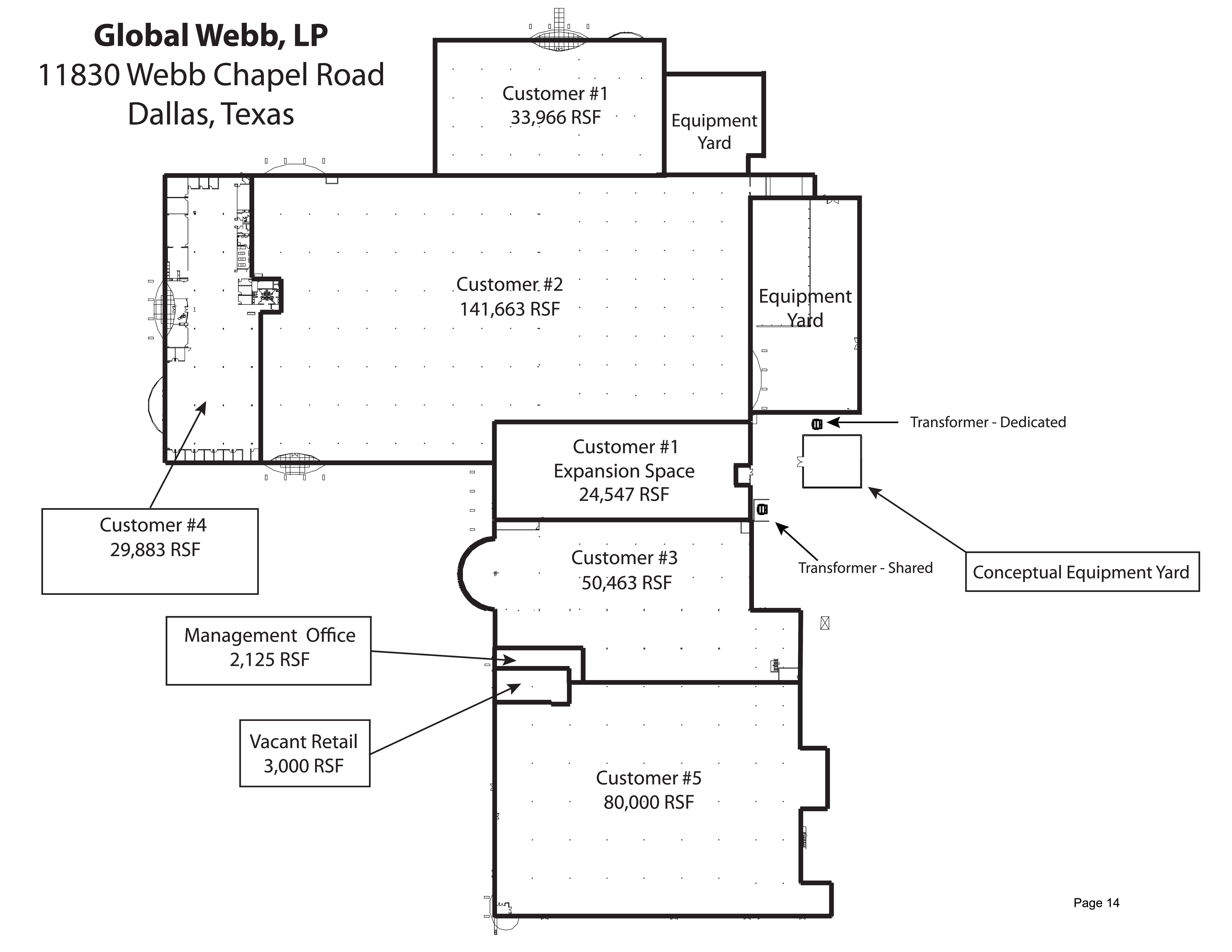 11830 Webb Chapel Road: site plan