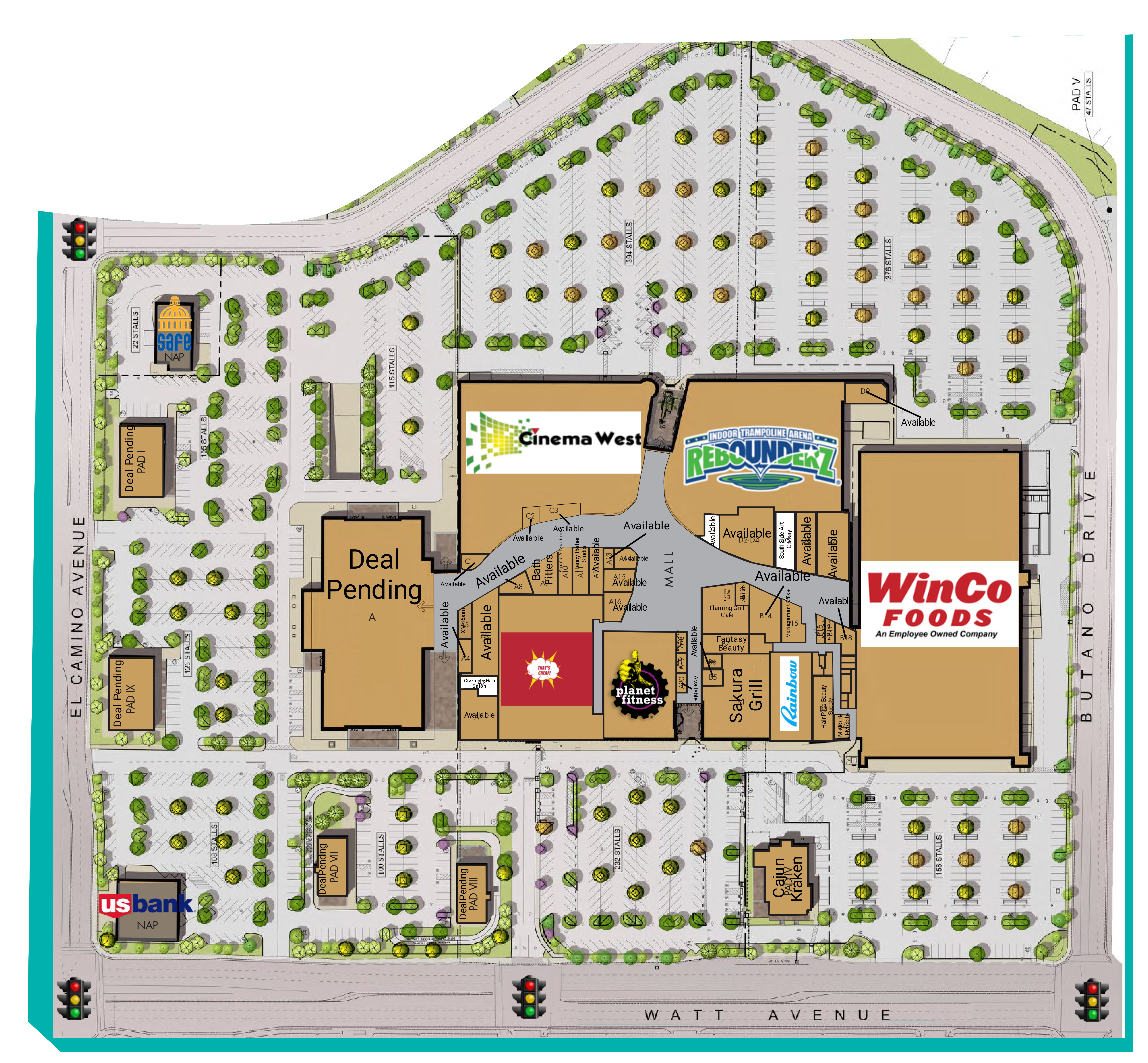 Country Club Plaza: site plan