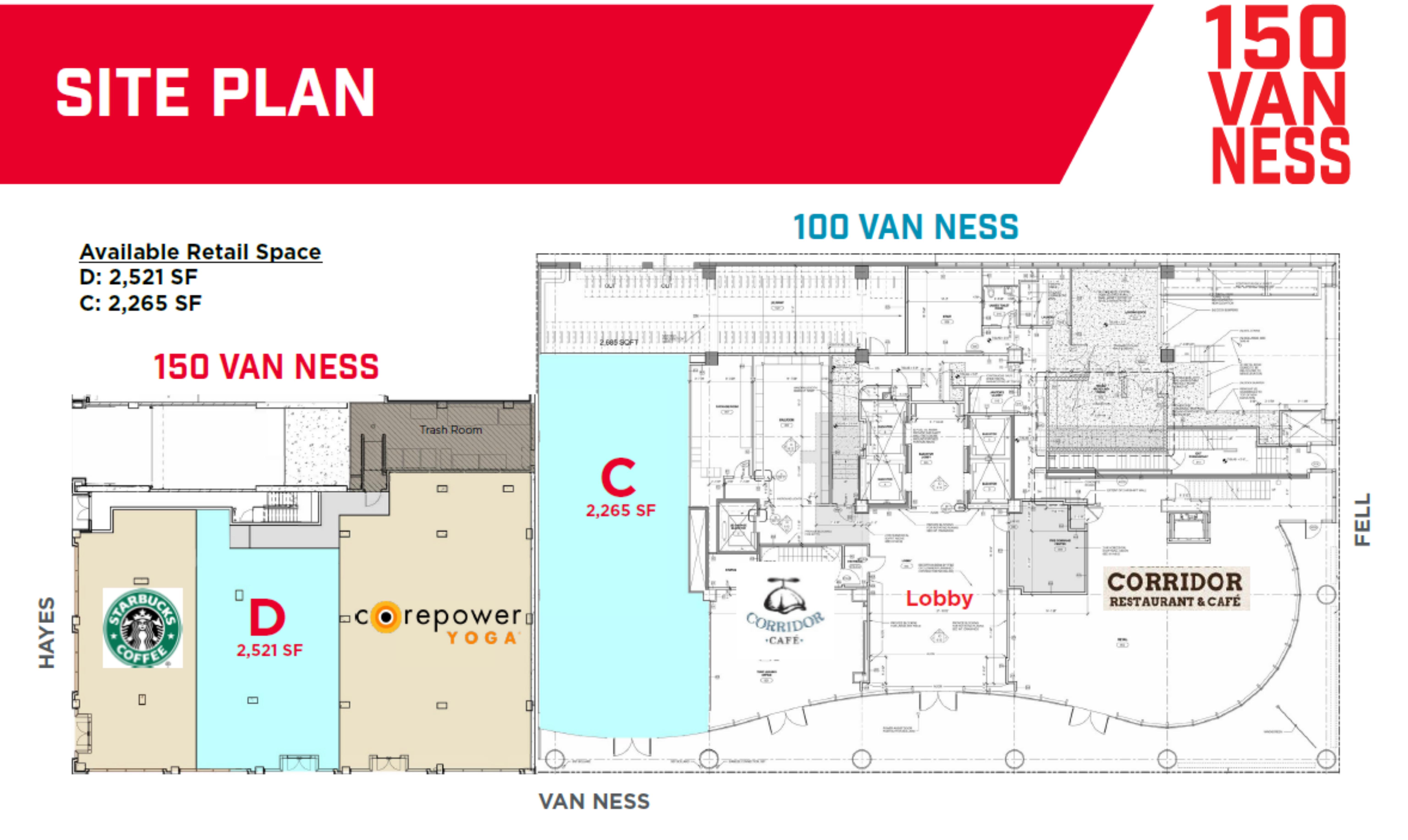 150 Van Ness Avenue : site plan