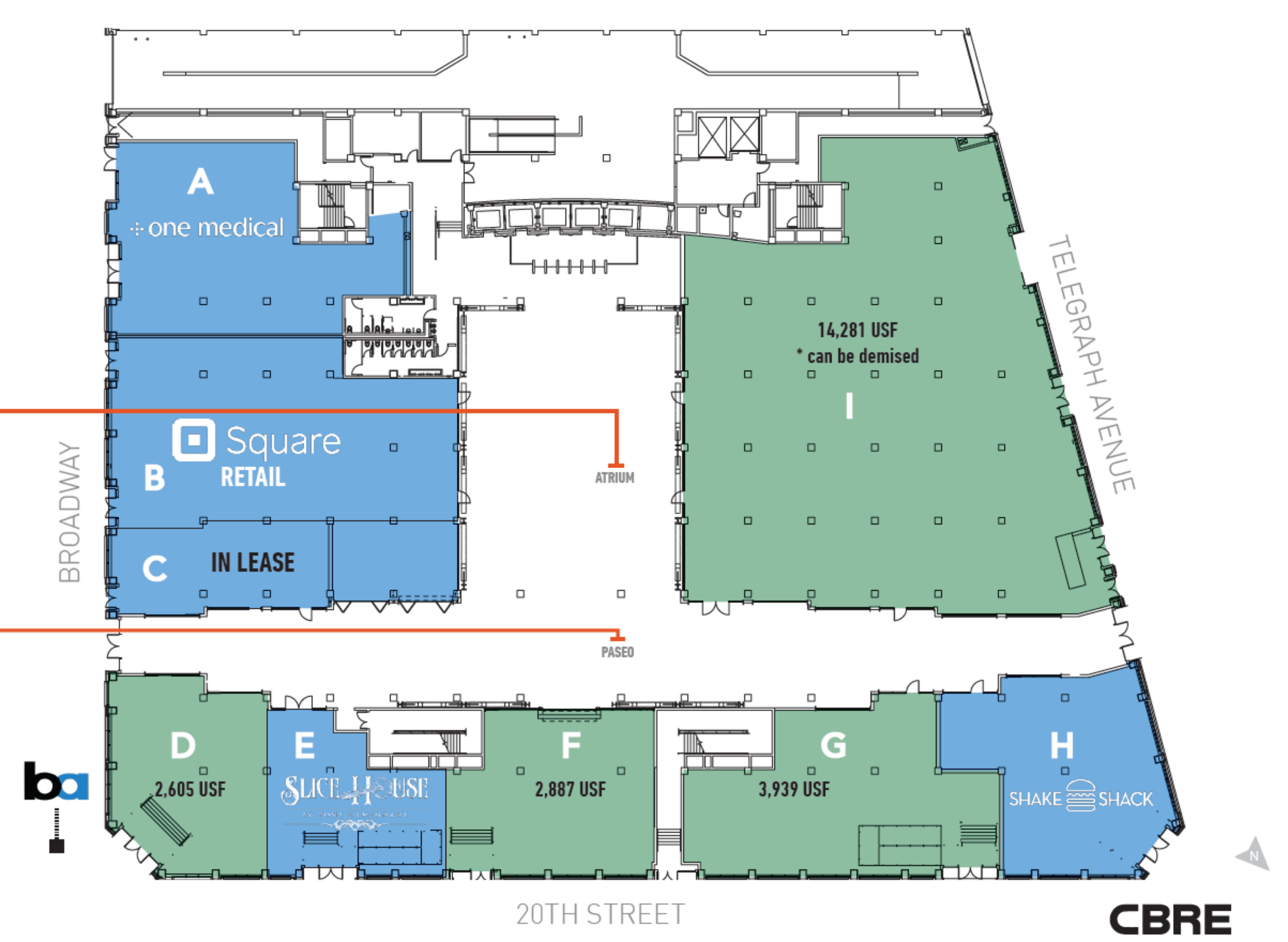 Uptown Station: site plan
