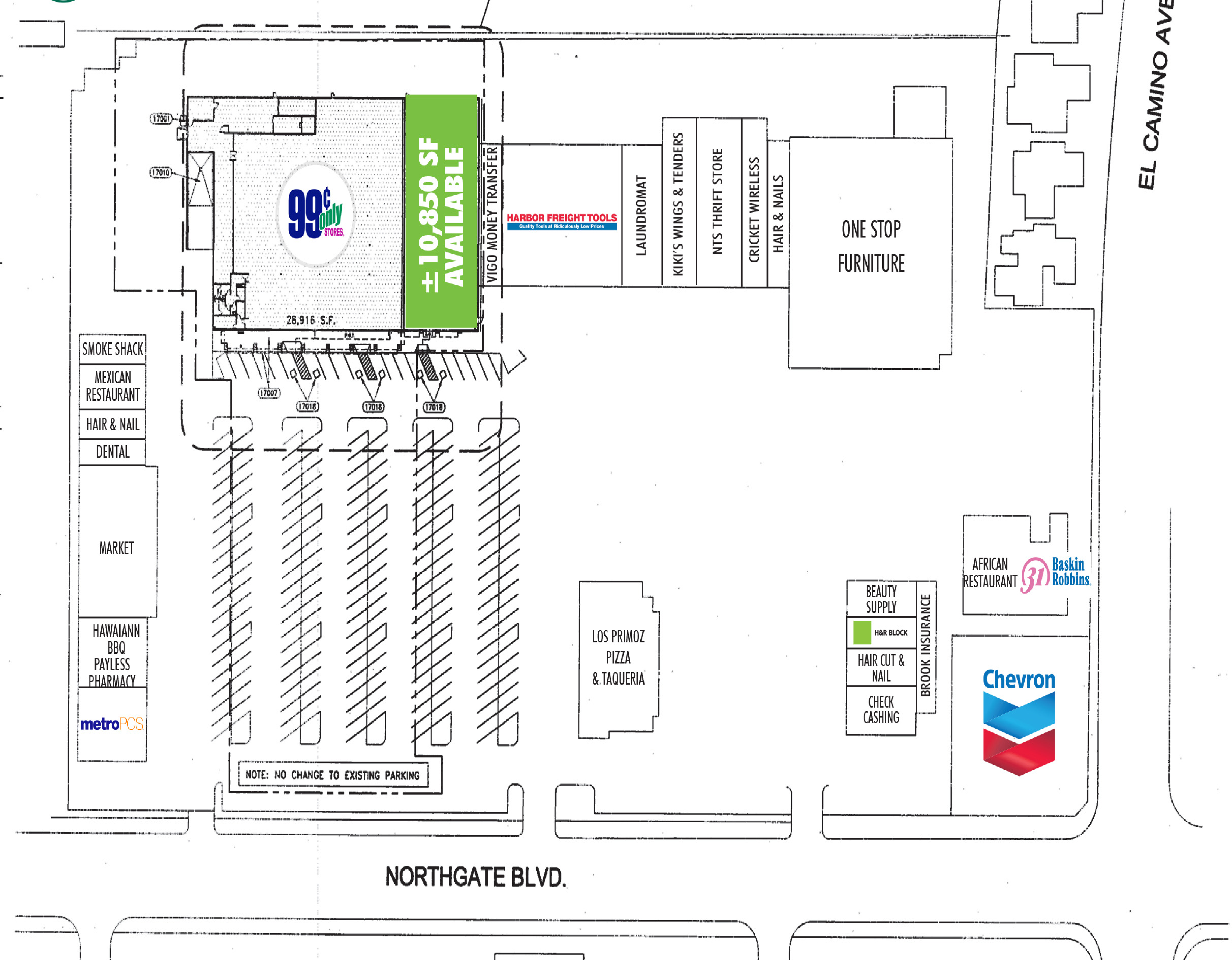 Northgate Shopping Center: site plan