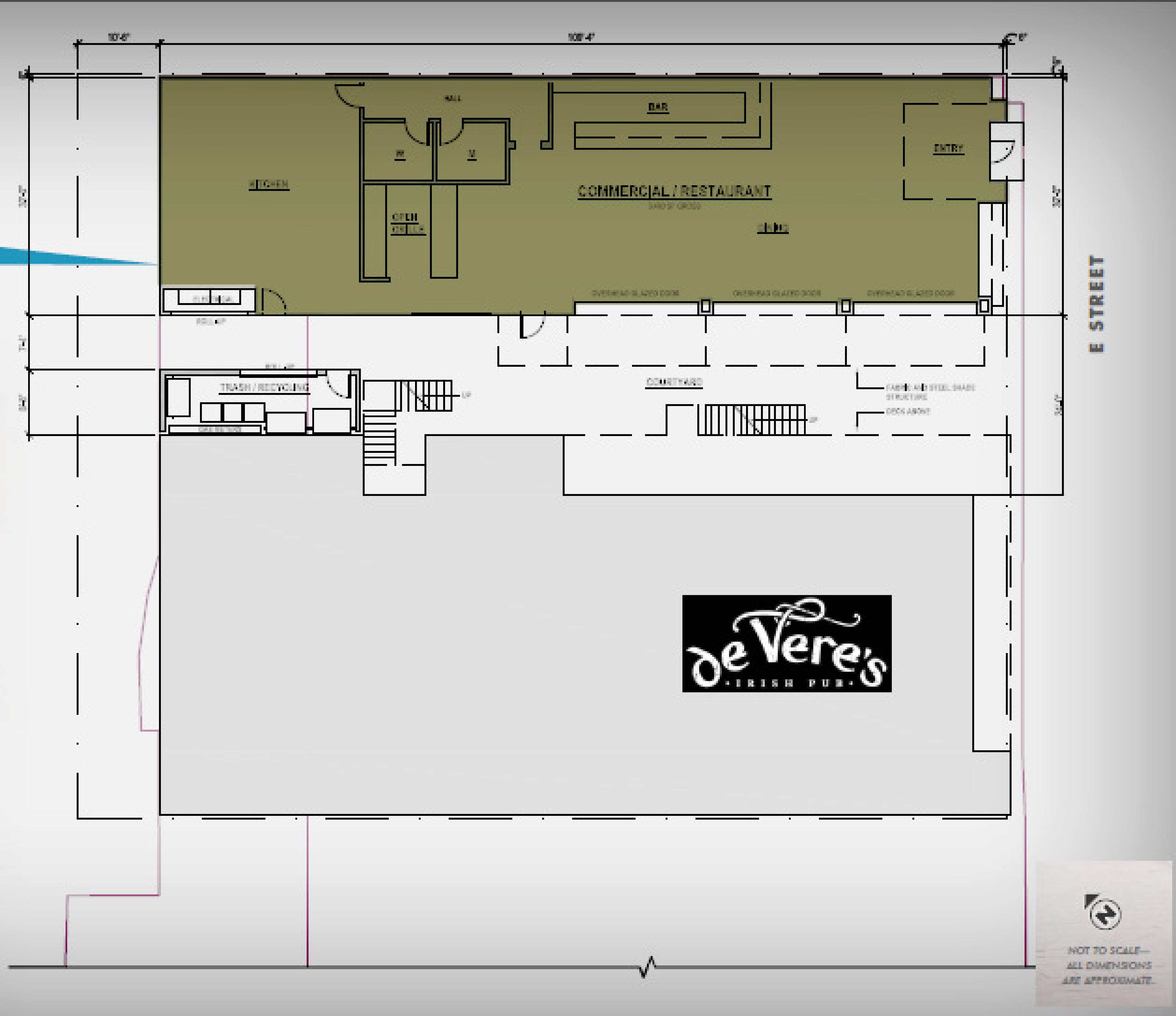 223 E Street: site plan