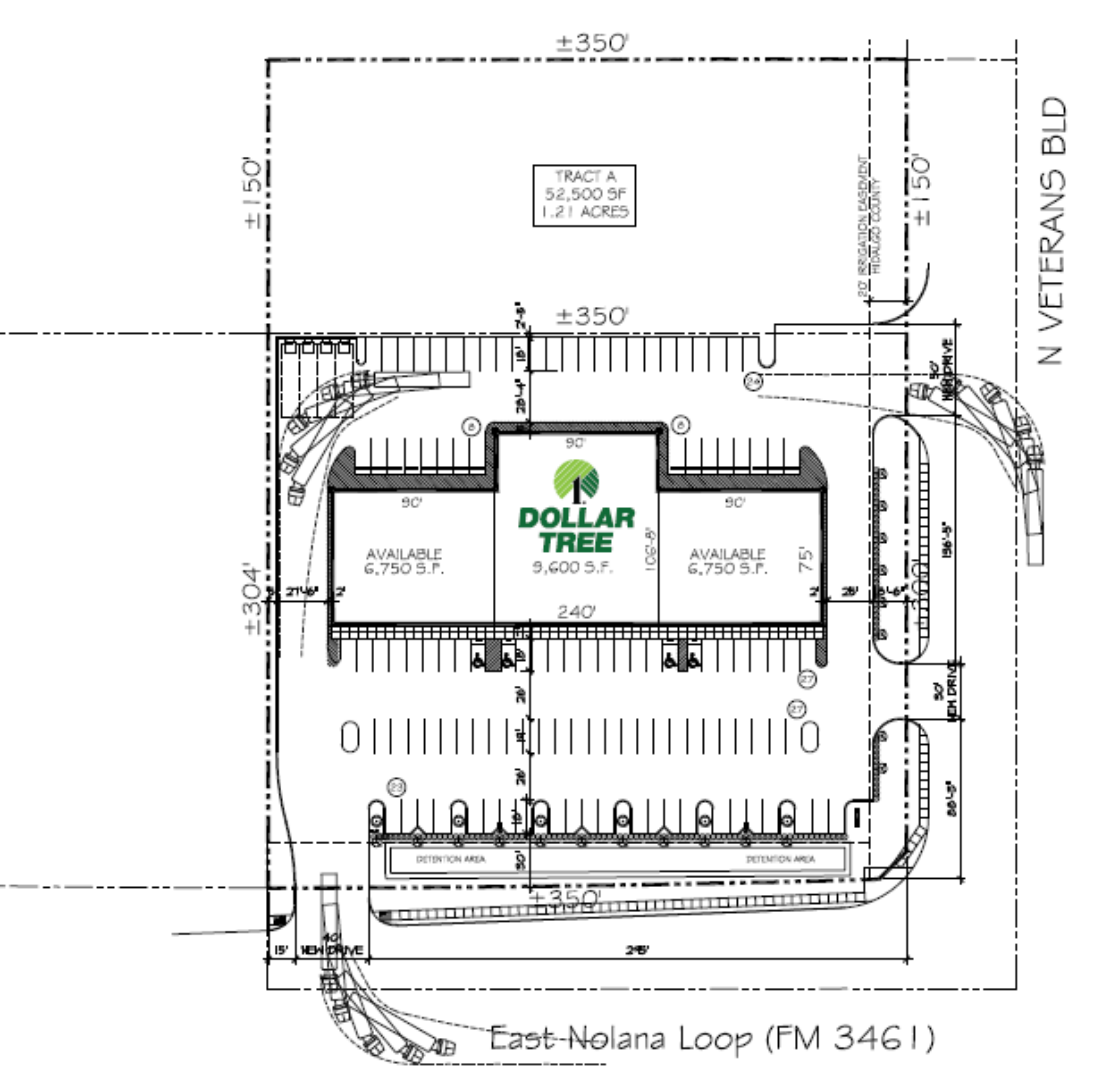 Dollar Tree Plaza - North Pharr: site plan