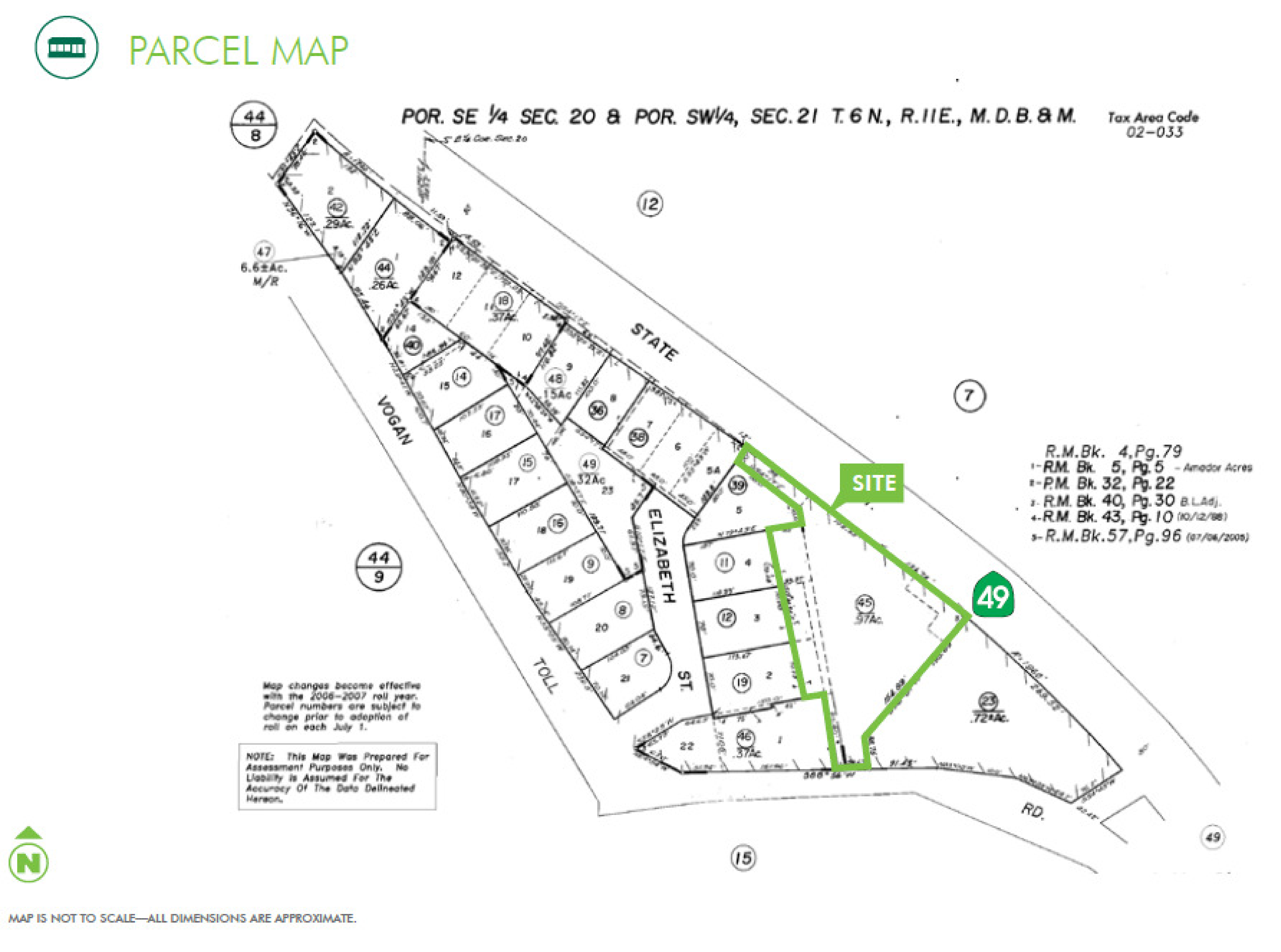 Automotive Building - 747 Highway 49: site plan