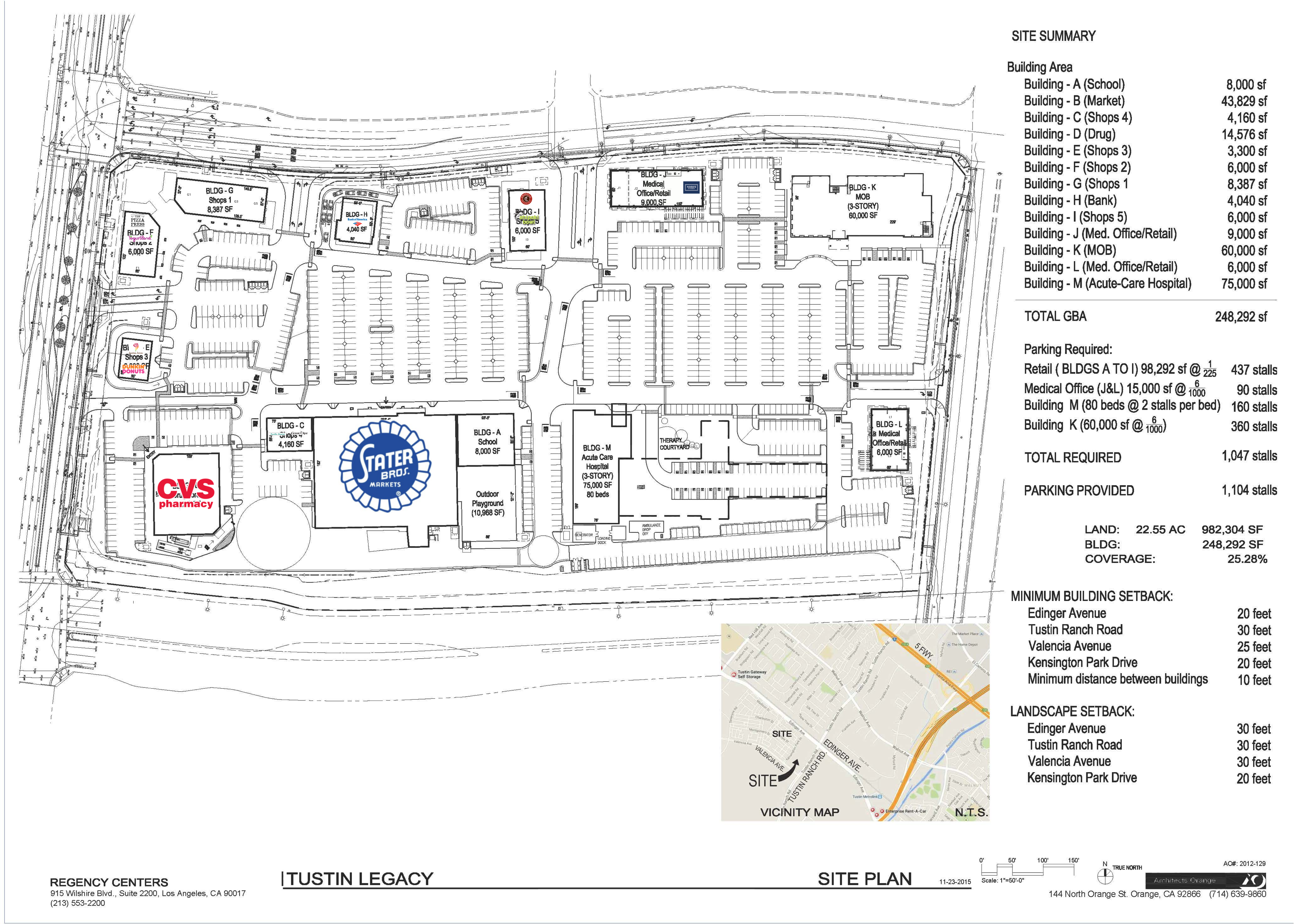 The Village at Tustin Legacy : site plan