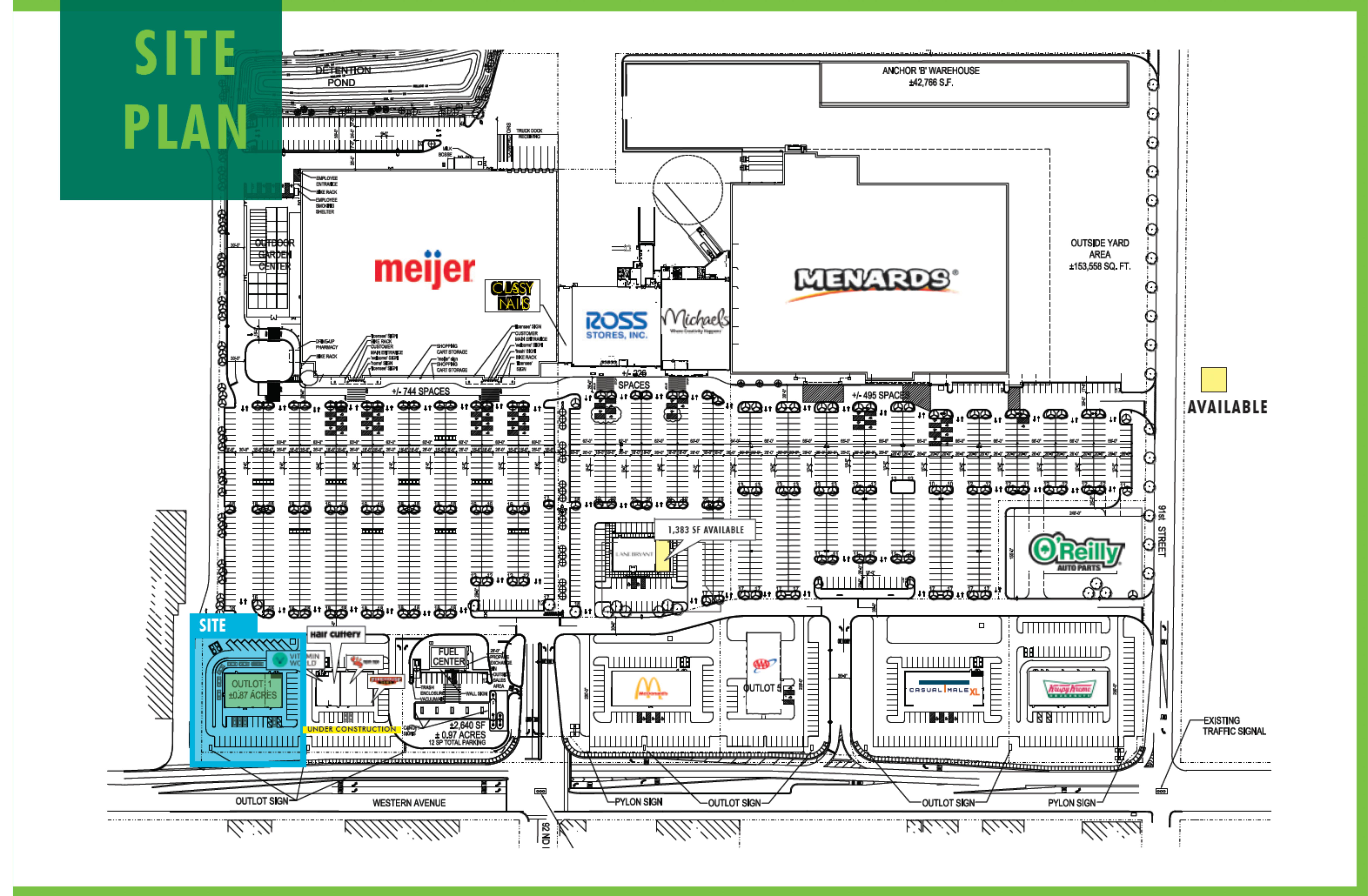 Evergreen Marketplace: site plan