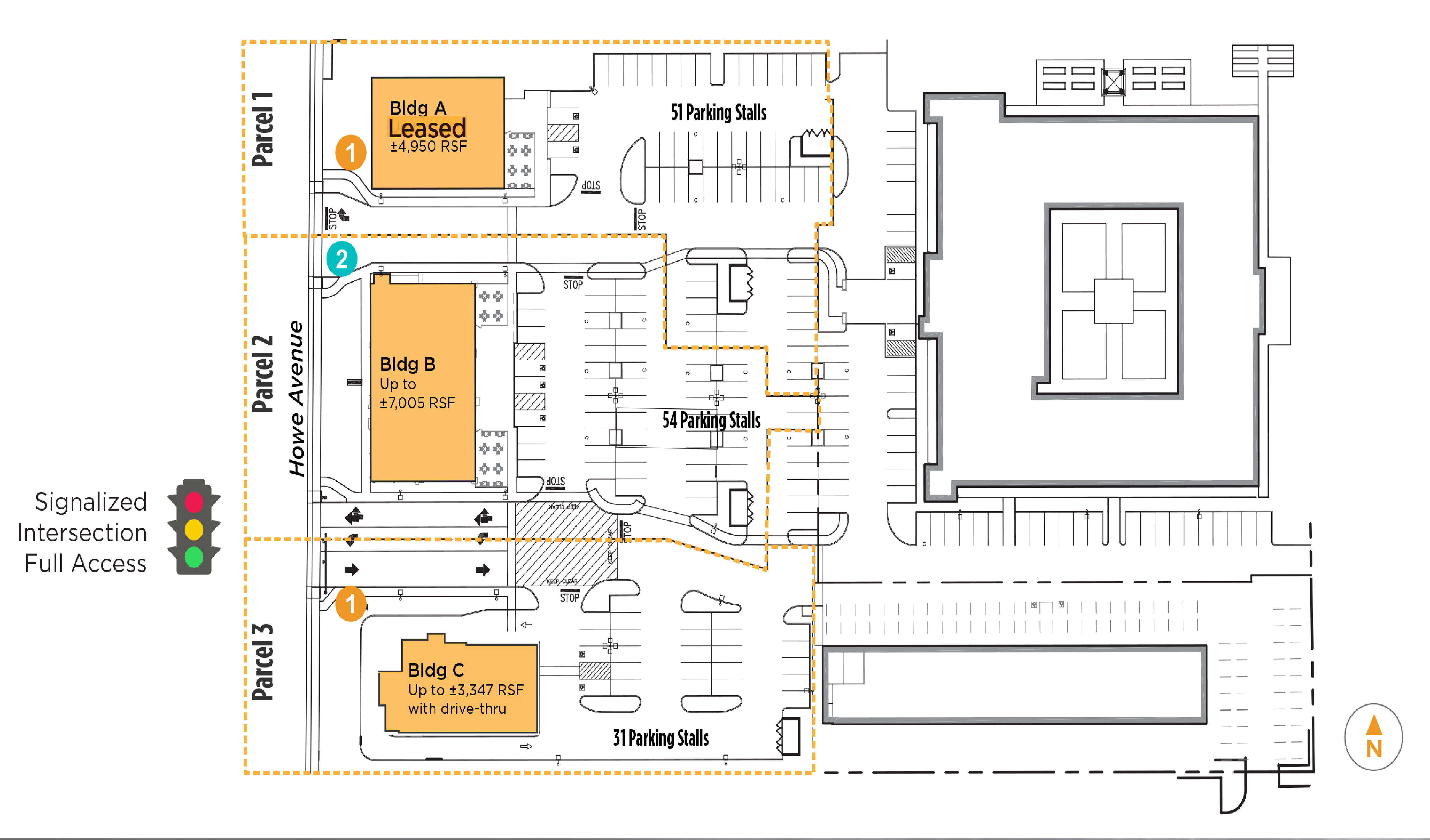 1420 Howe Avenue: site plan