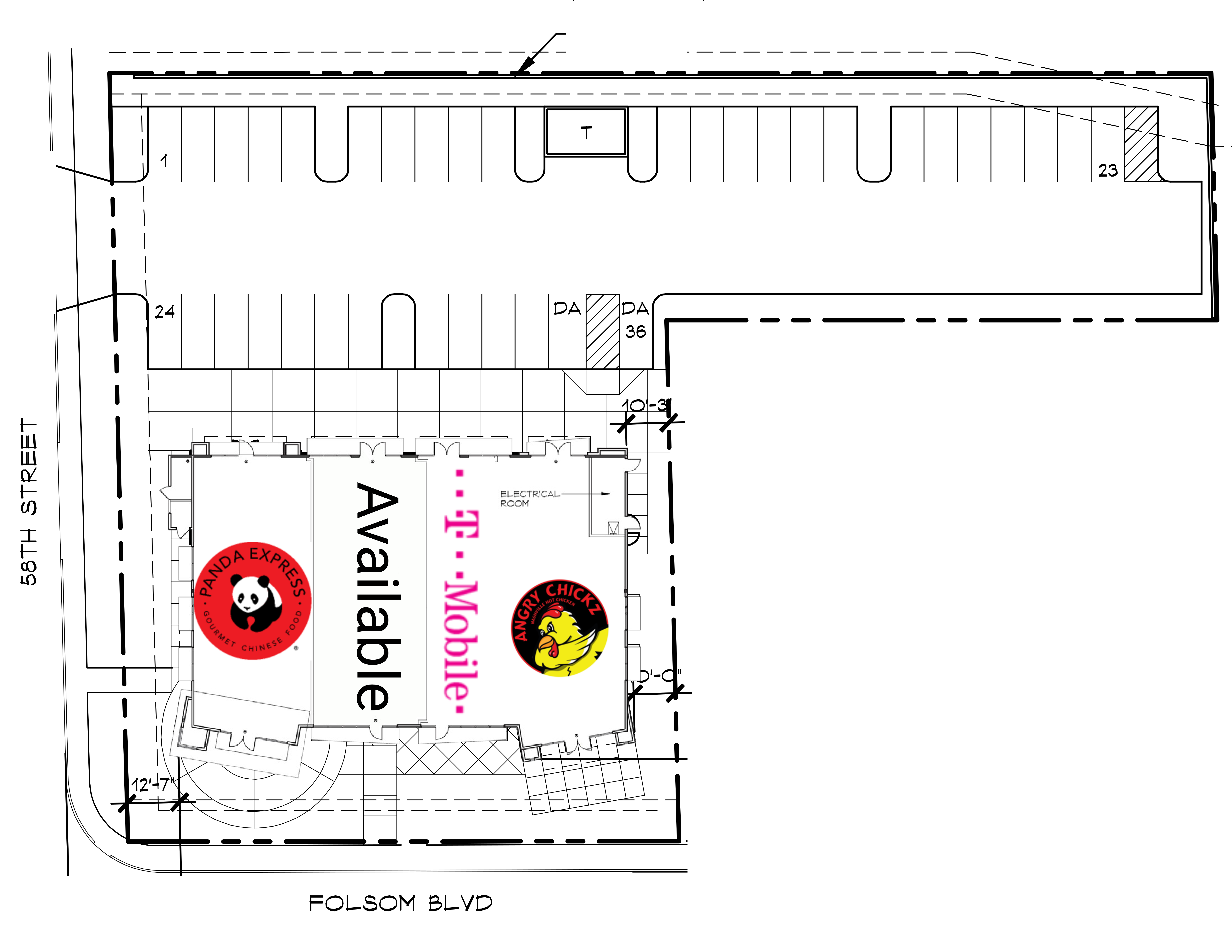 East Sacramento Shops: site plan