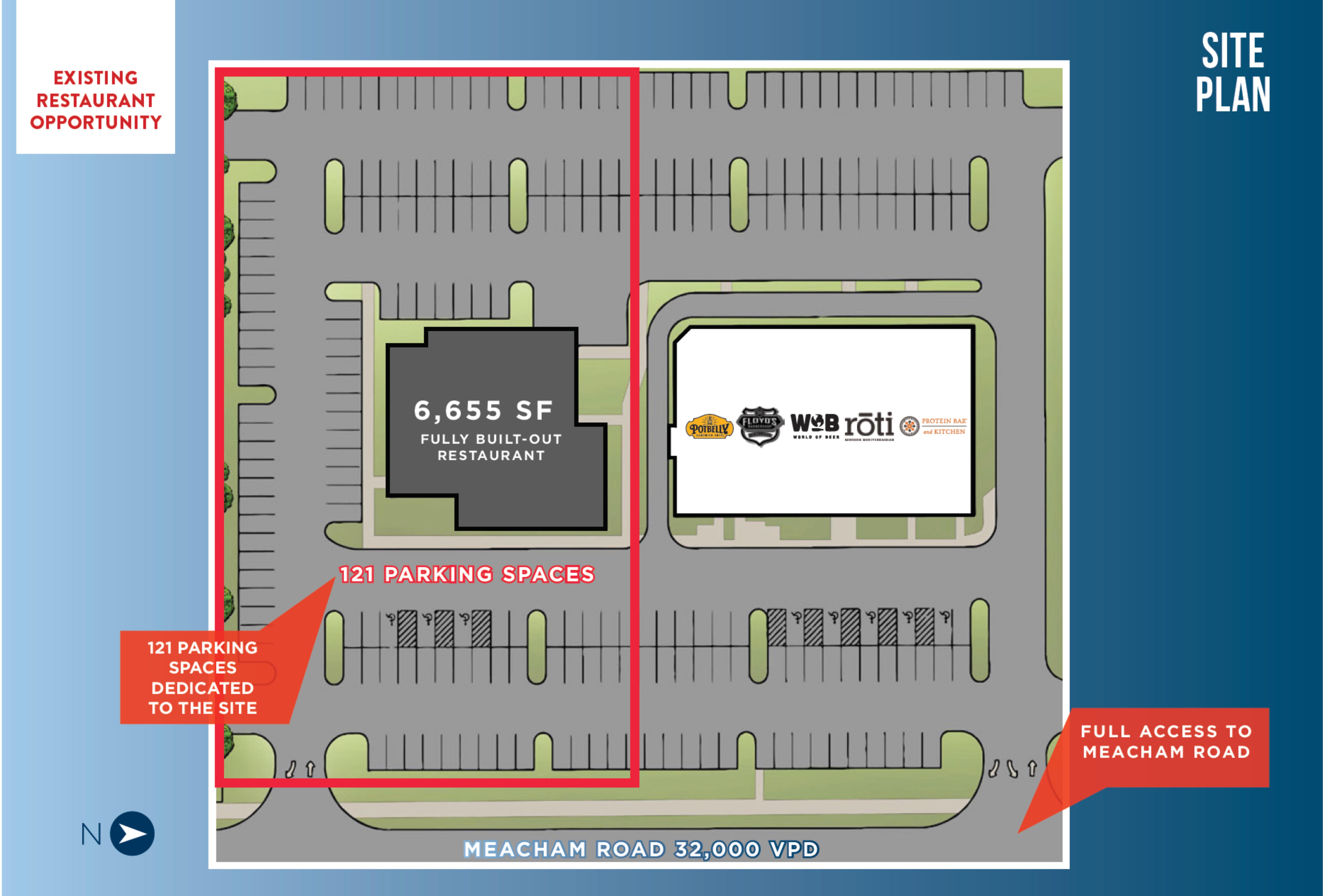 870 Meacham : site plan
