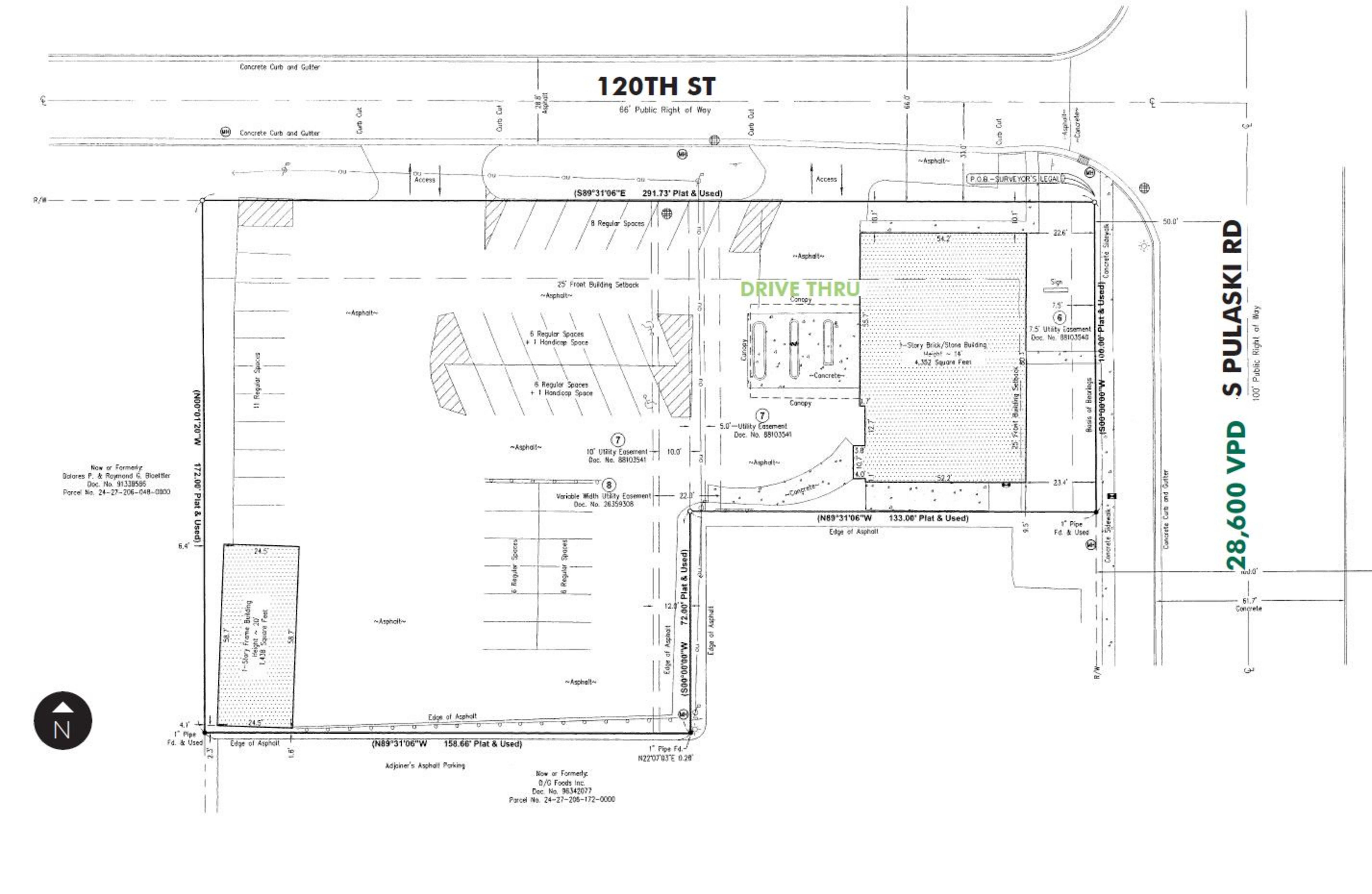 Alsip Former US Bank: site plan