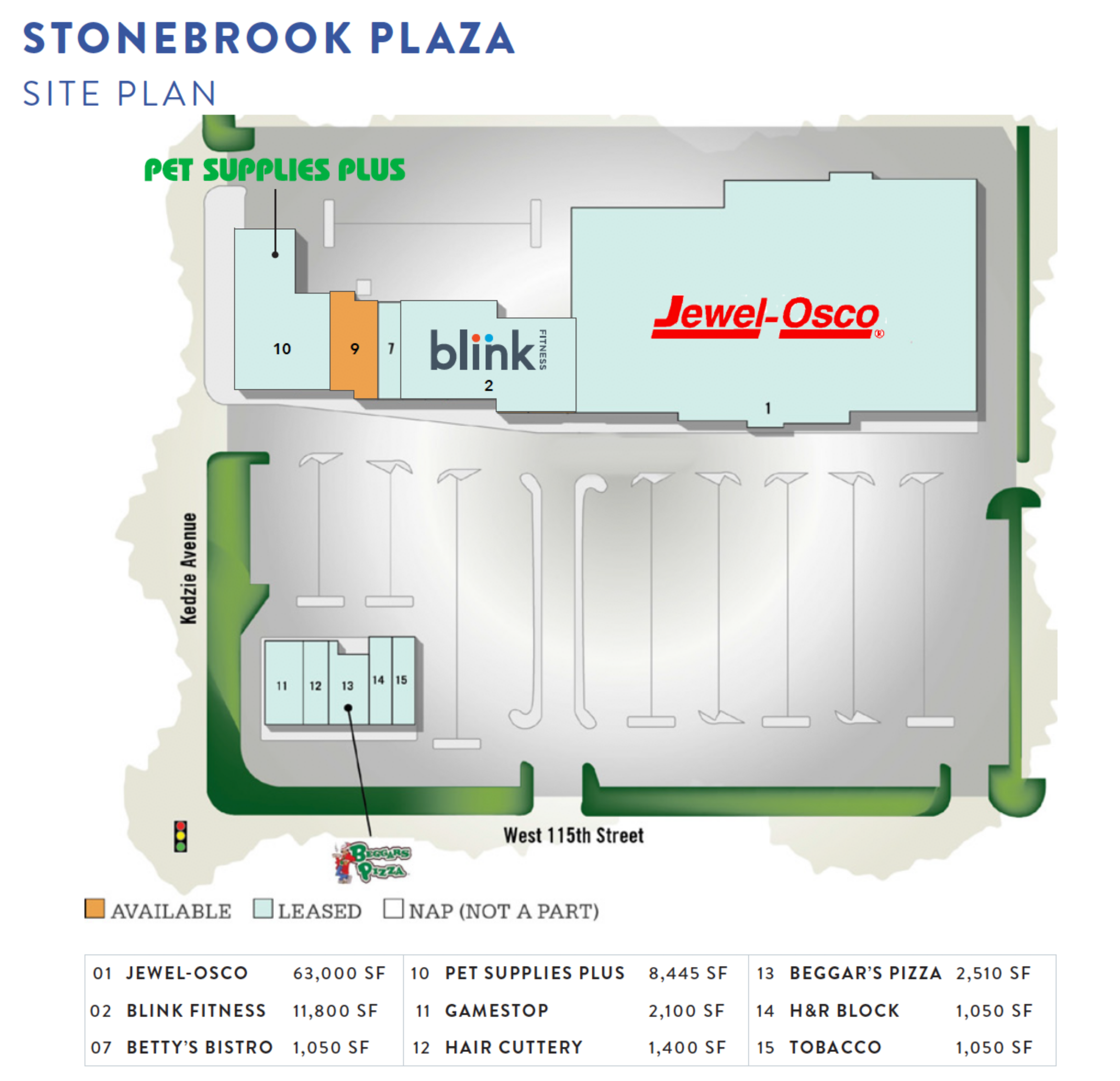 Stonebrook Plaza: site plan