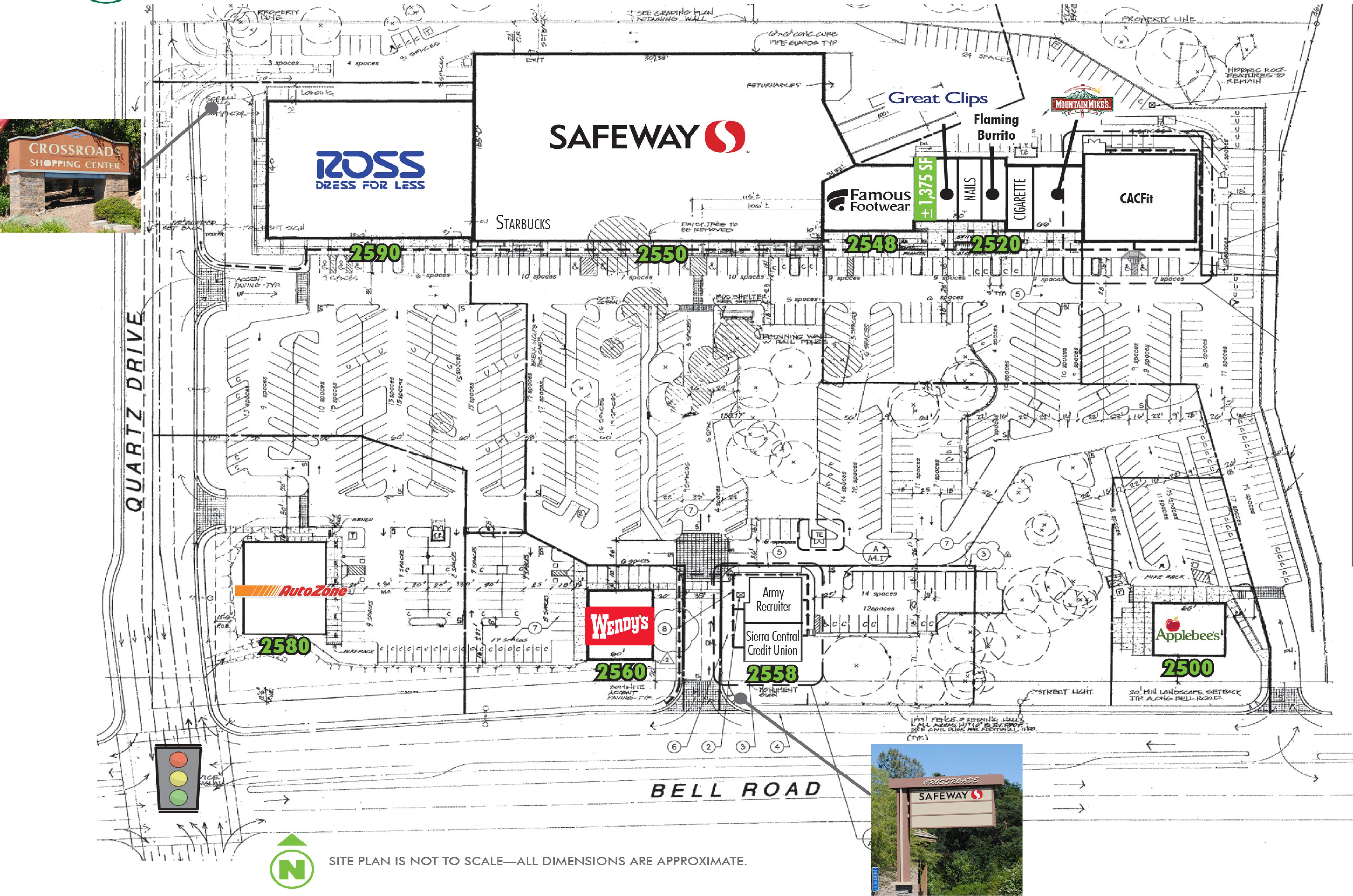 Auburn Crossroads: site plan