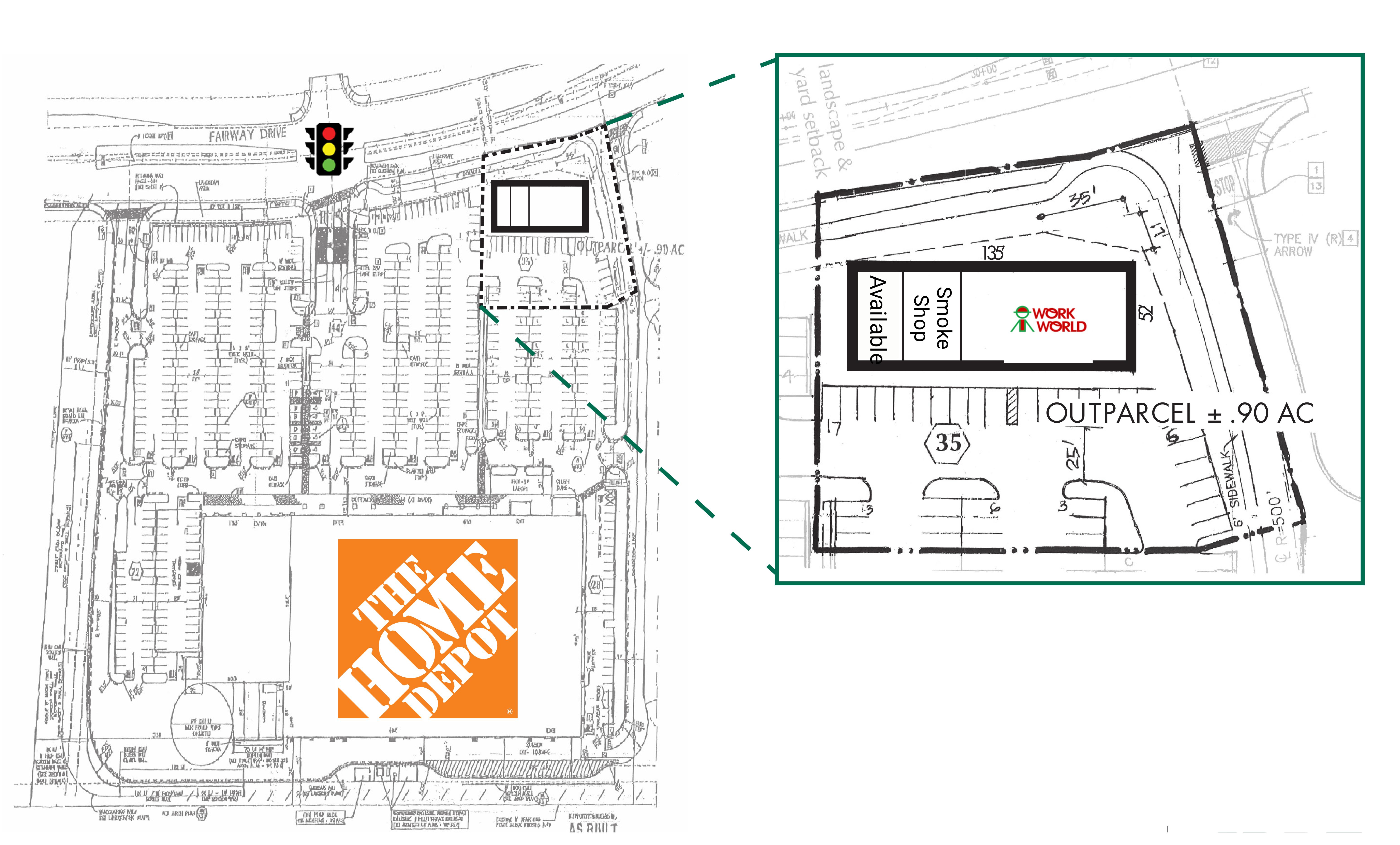 9951 Fairway Dr: site plan