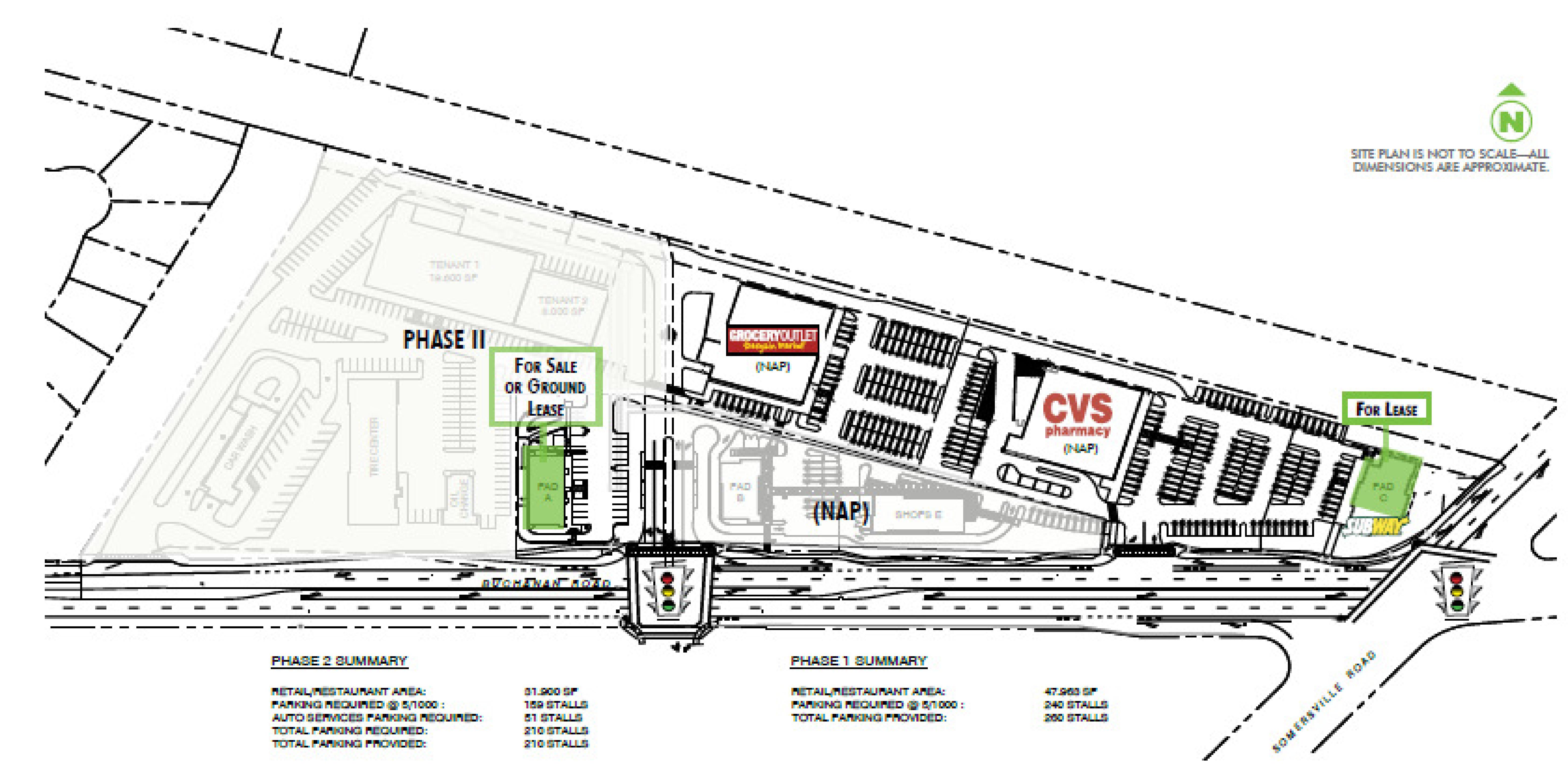 Buchanan Crossing: site plan