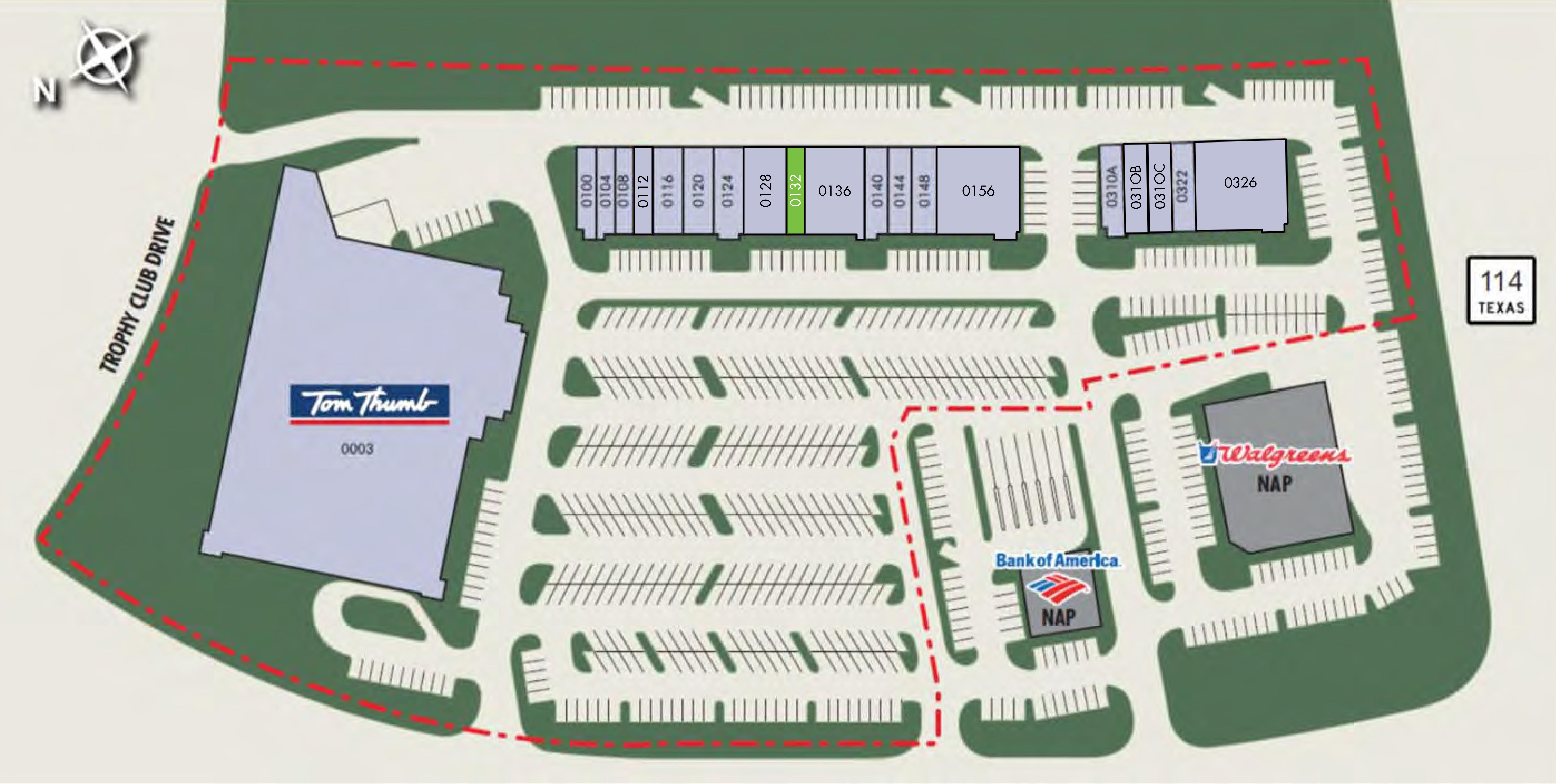 Trophy Club Plaza: site plan
