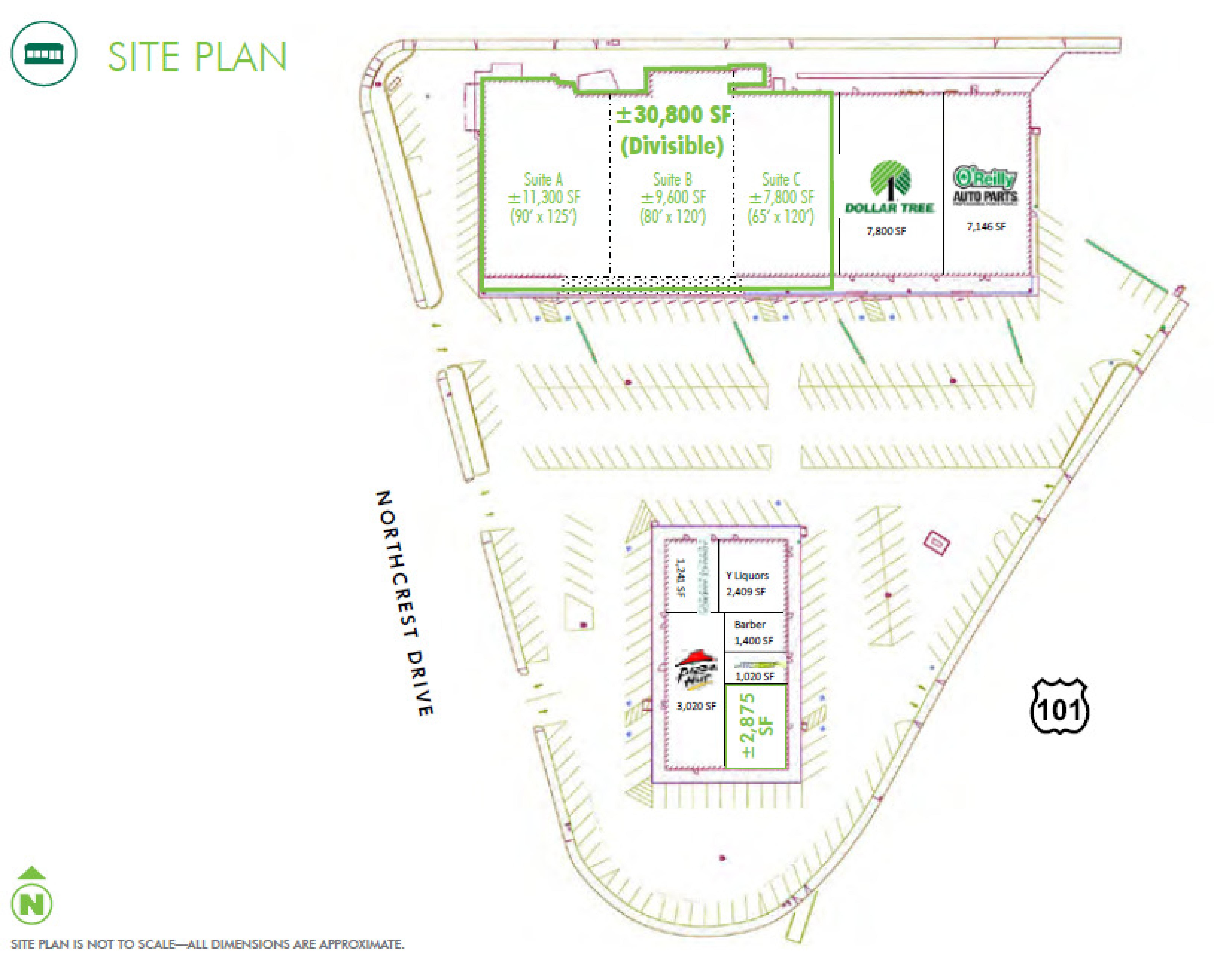 Crescent City Shopping Center: site plan