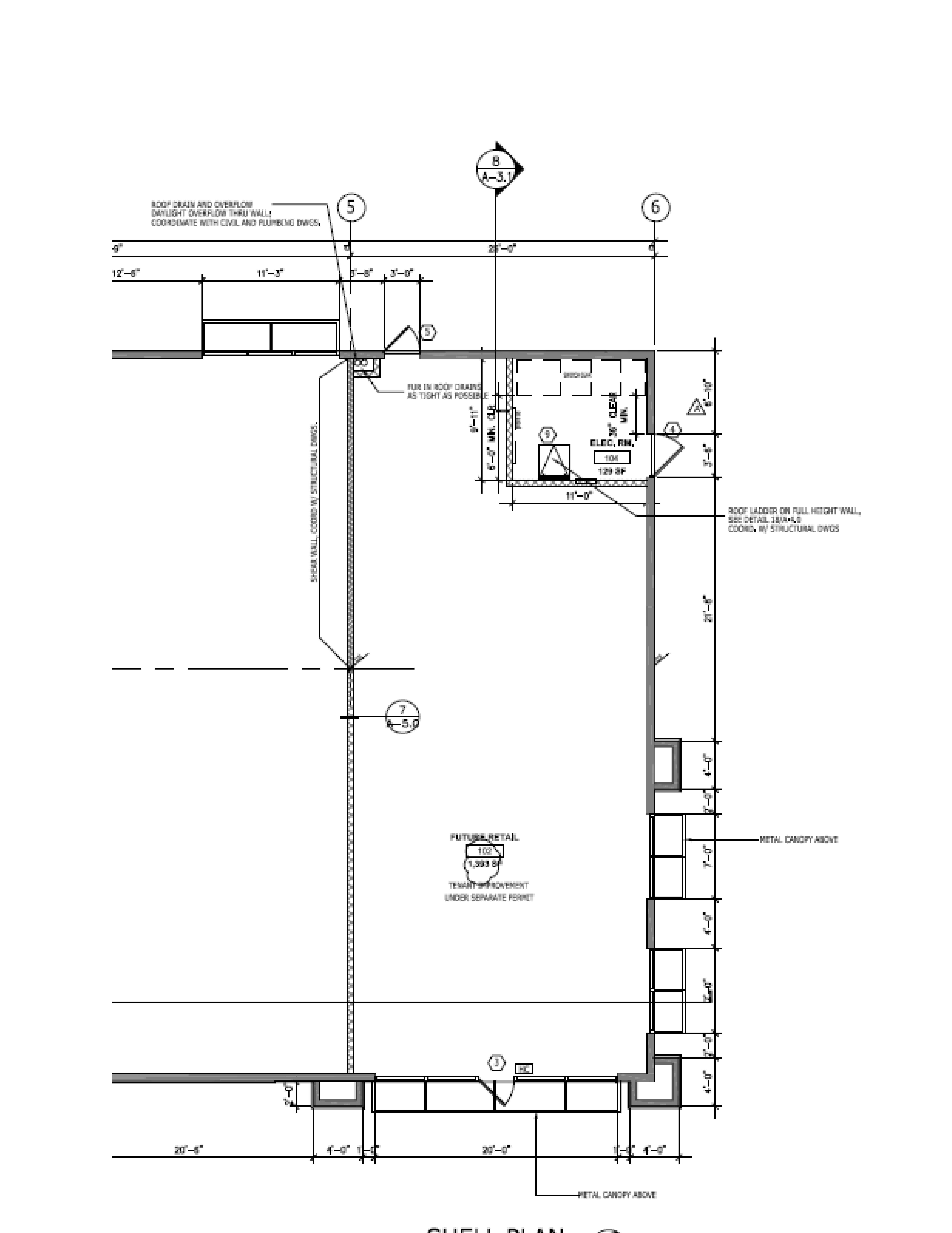 Orangecrest Towne Center: site plan