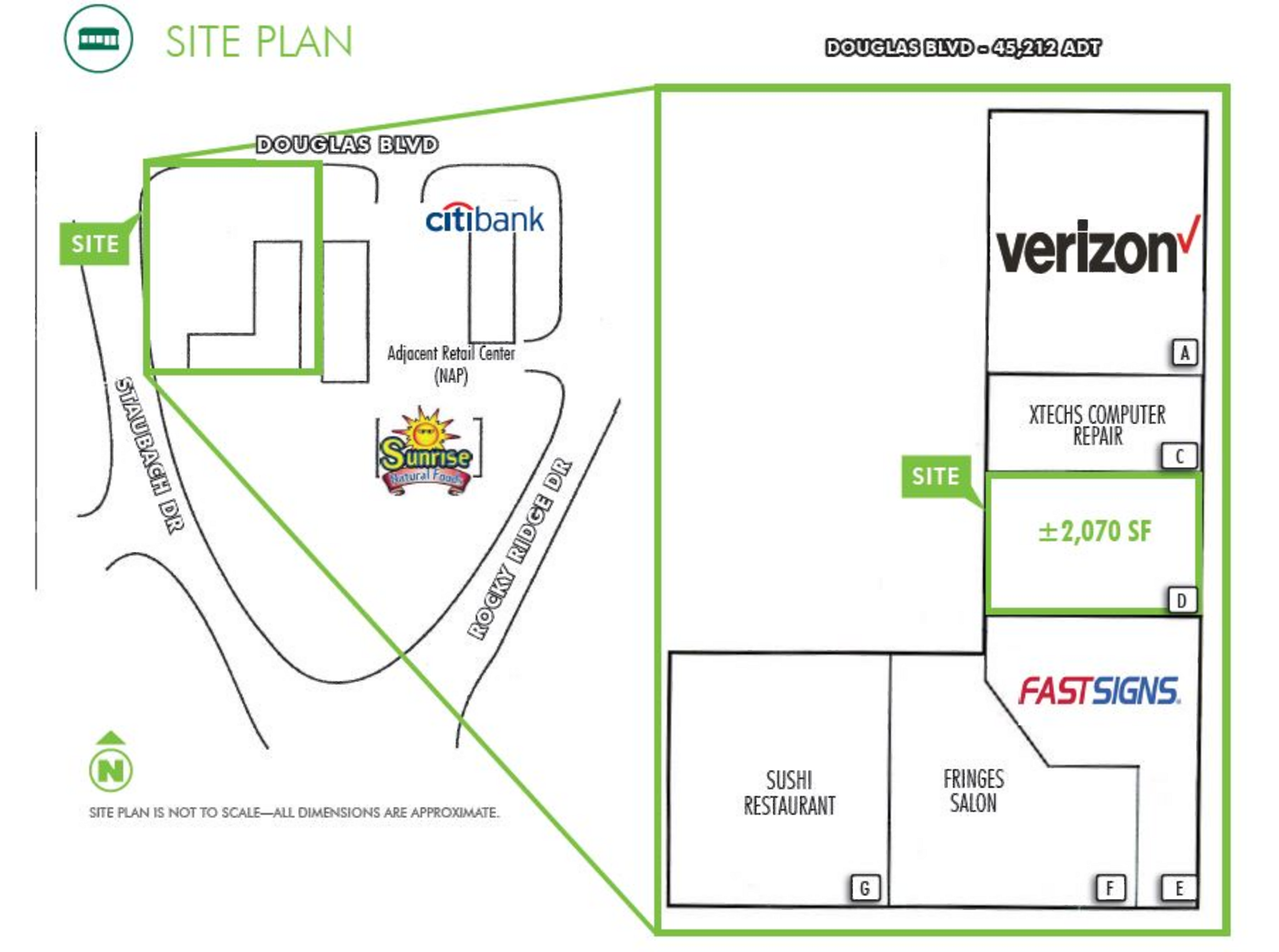 Rocky Ridge Center: site plan