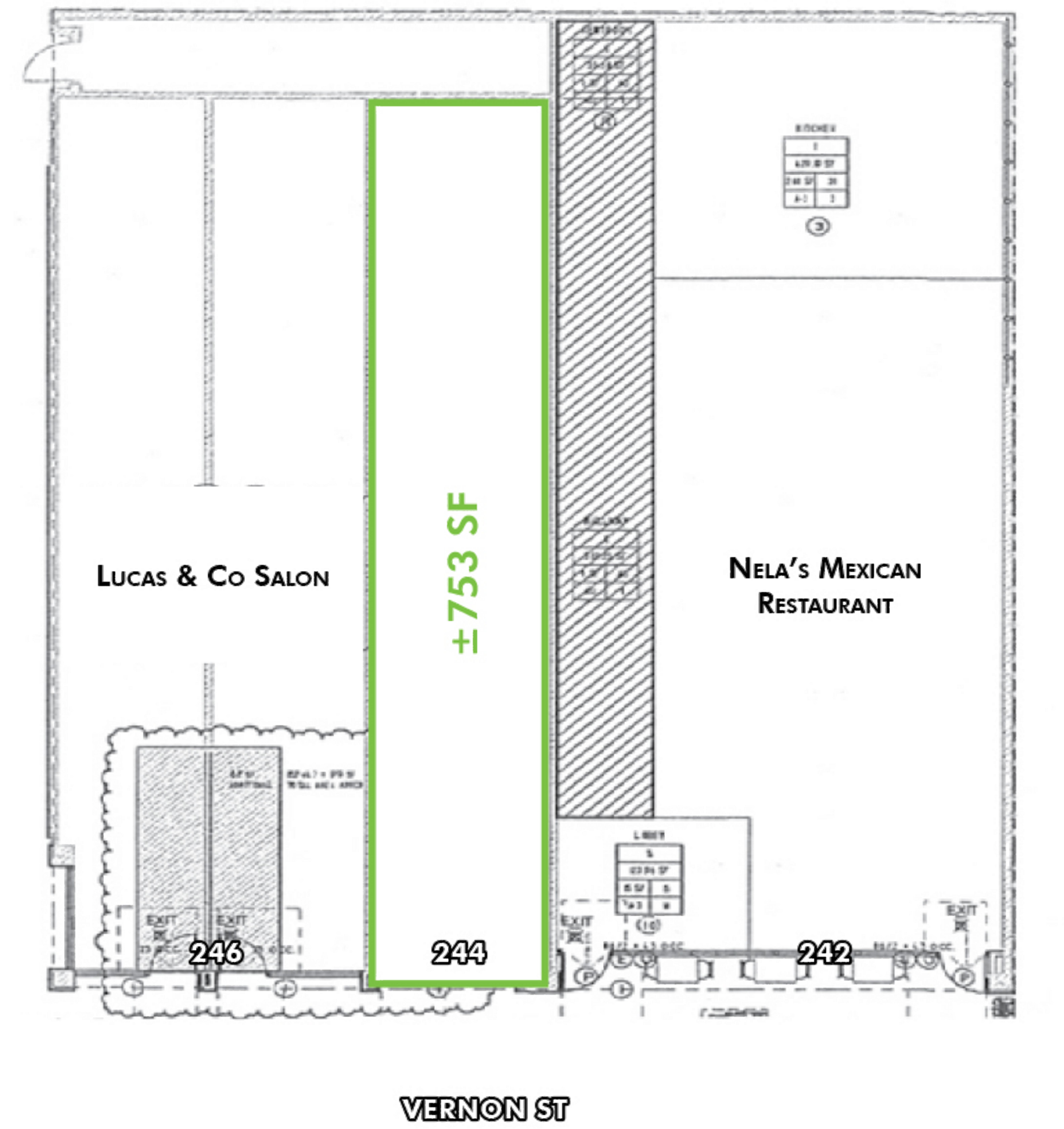 244 Vernon Street: site plan