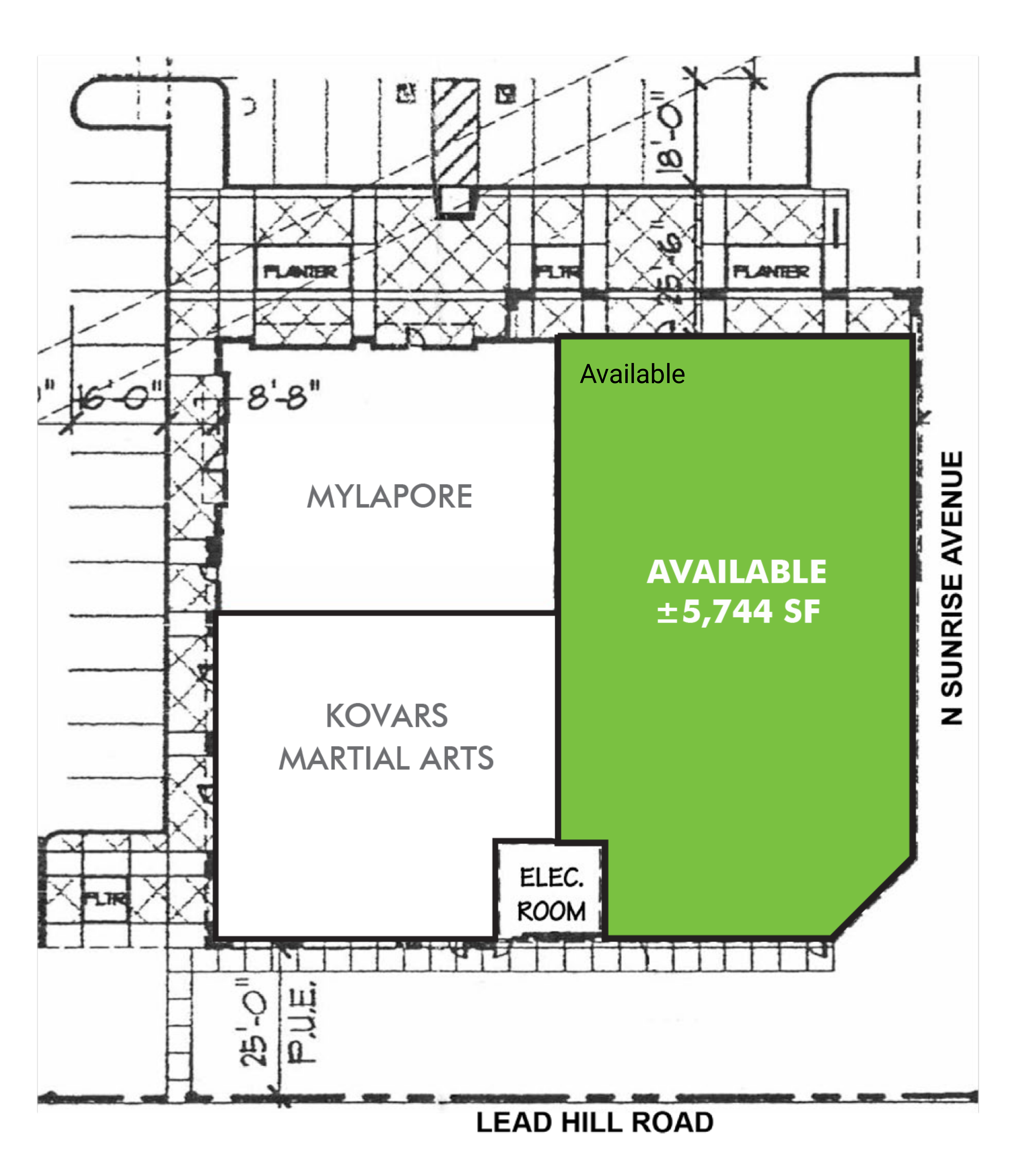 300 N Sunrise Ave: site plan