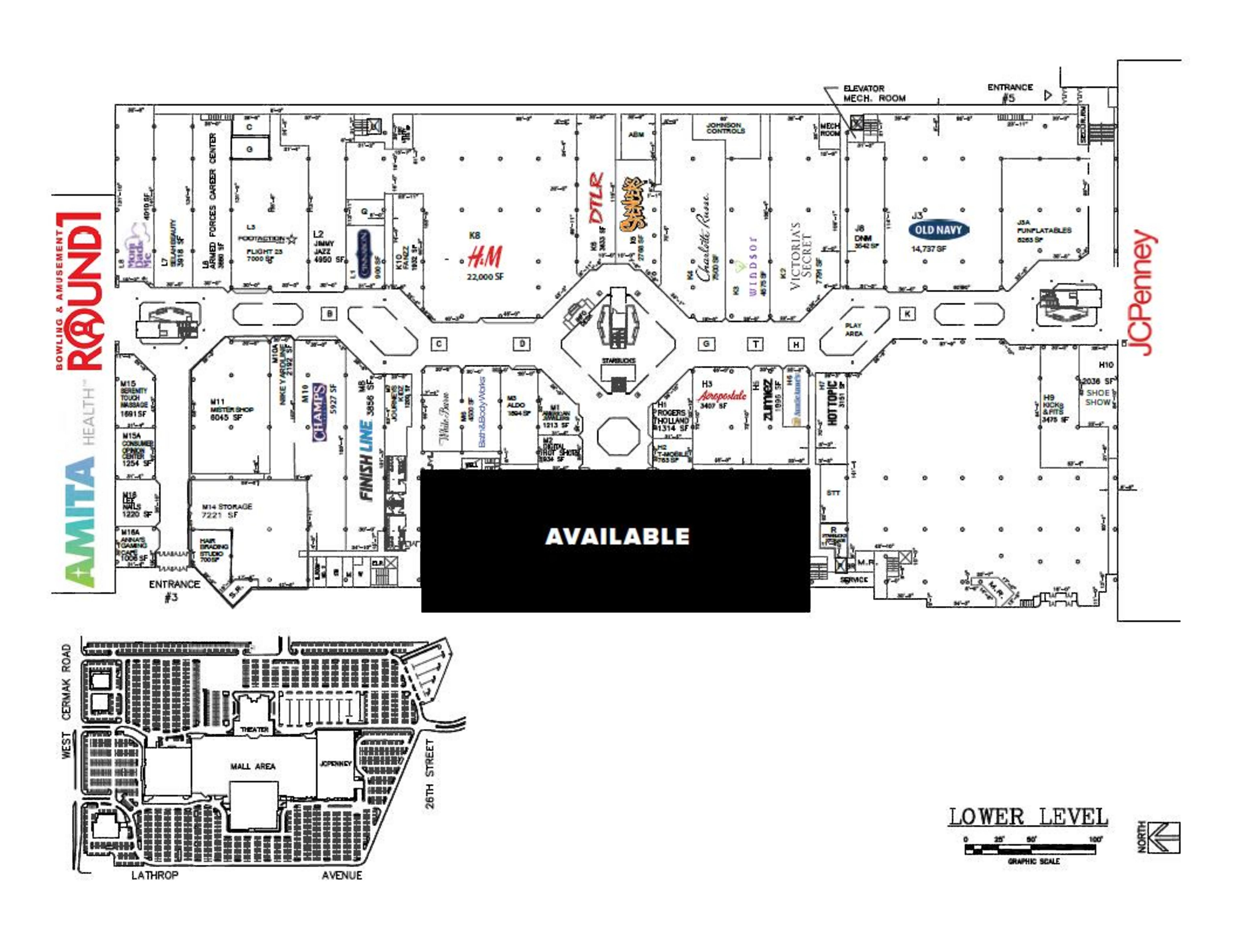 Carson Box - North Riverside Park Mall: site plan