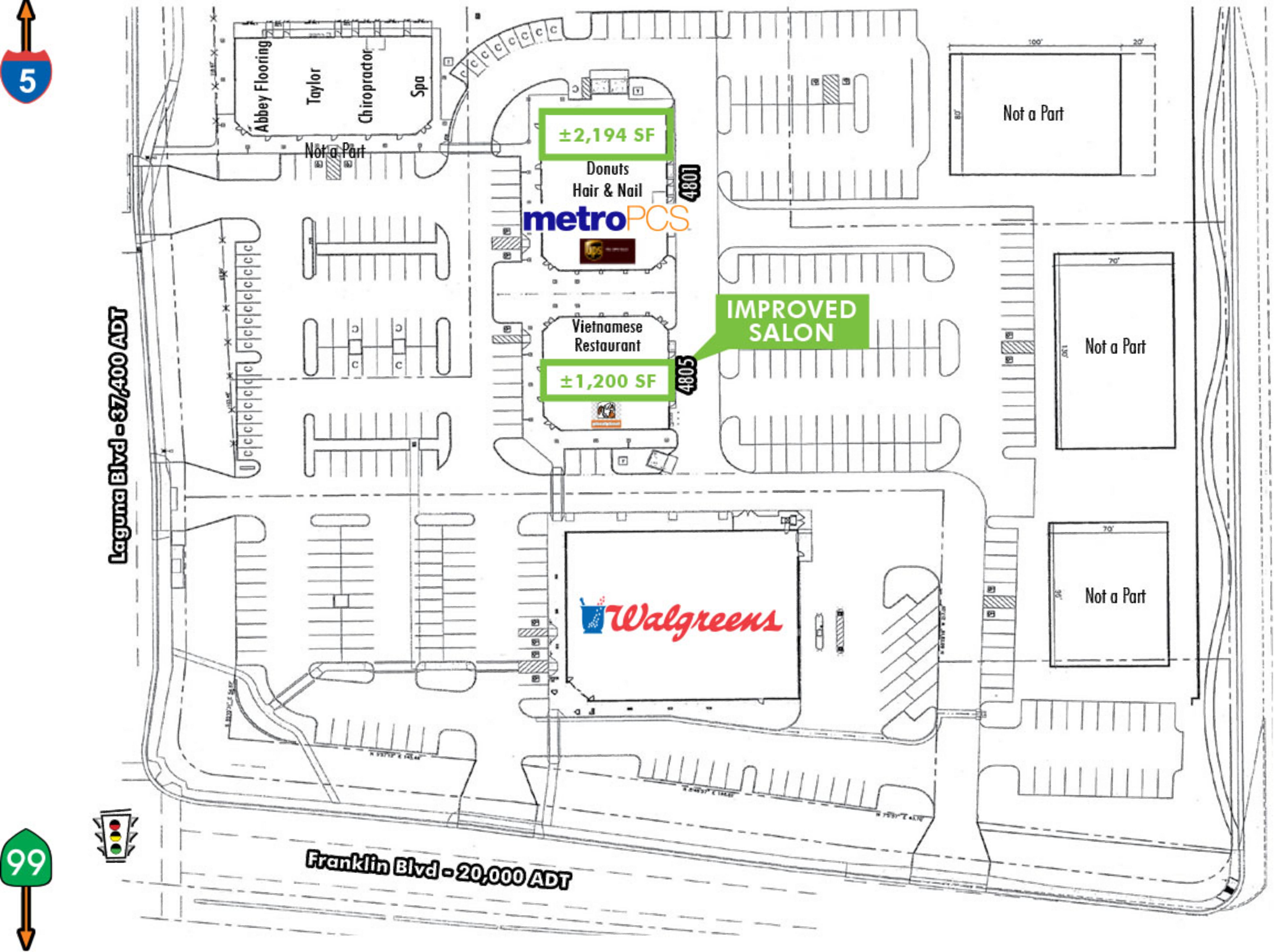 Laguna Village Plaza: site plan