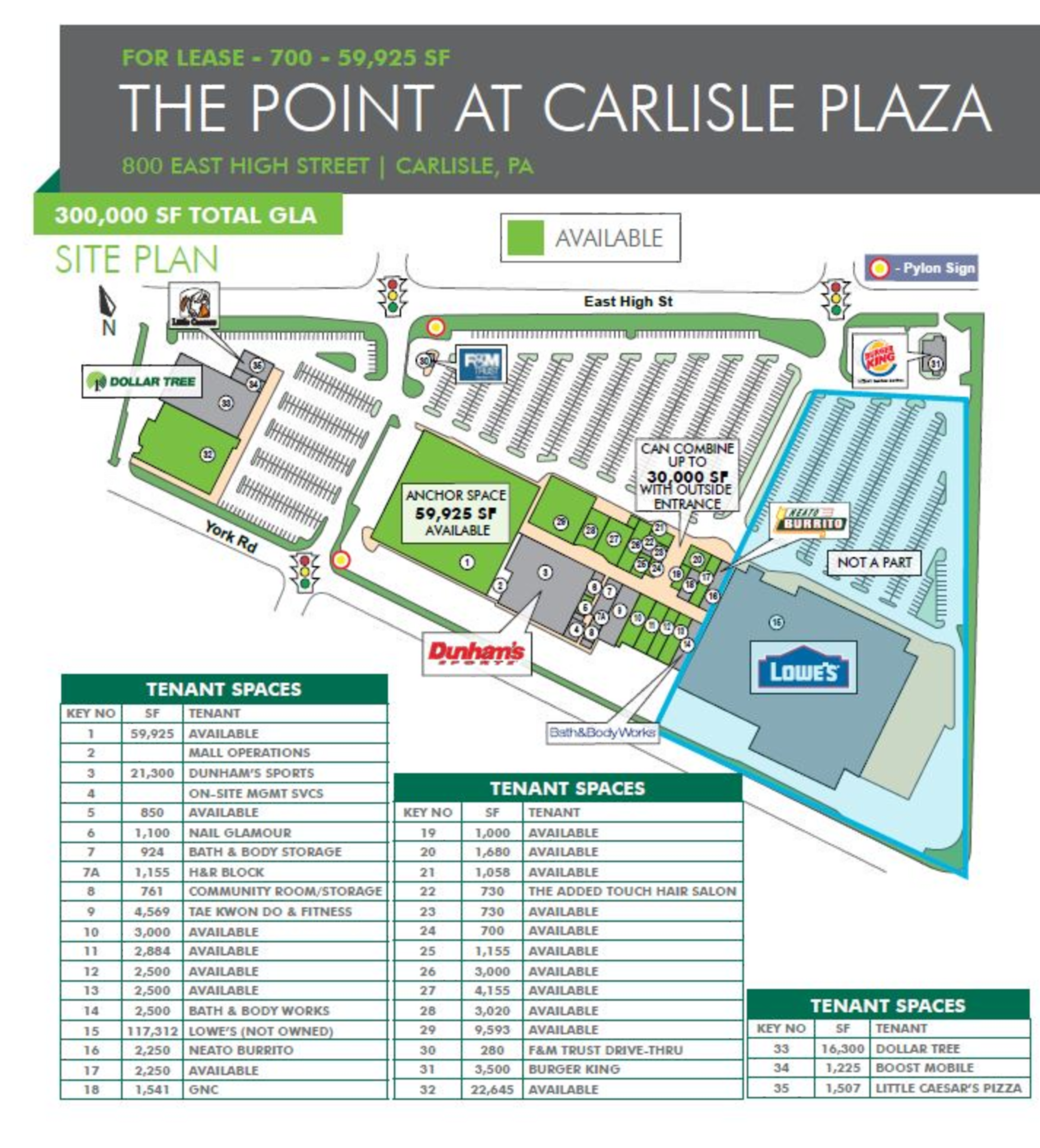 The Point at Carlisle Plaza: site plan