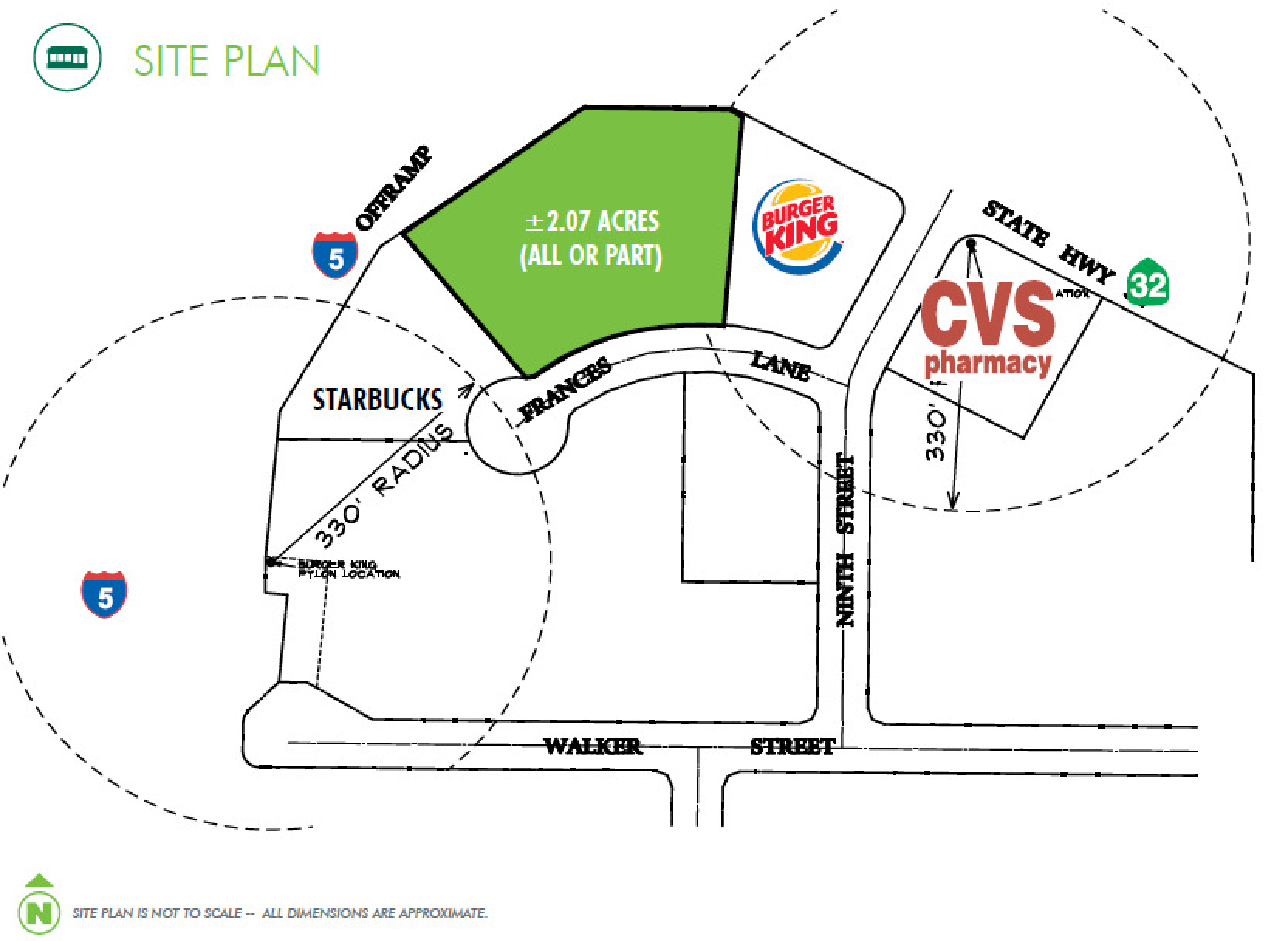 Highway Commercial Land - I5 & Hwy 32: site plan