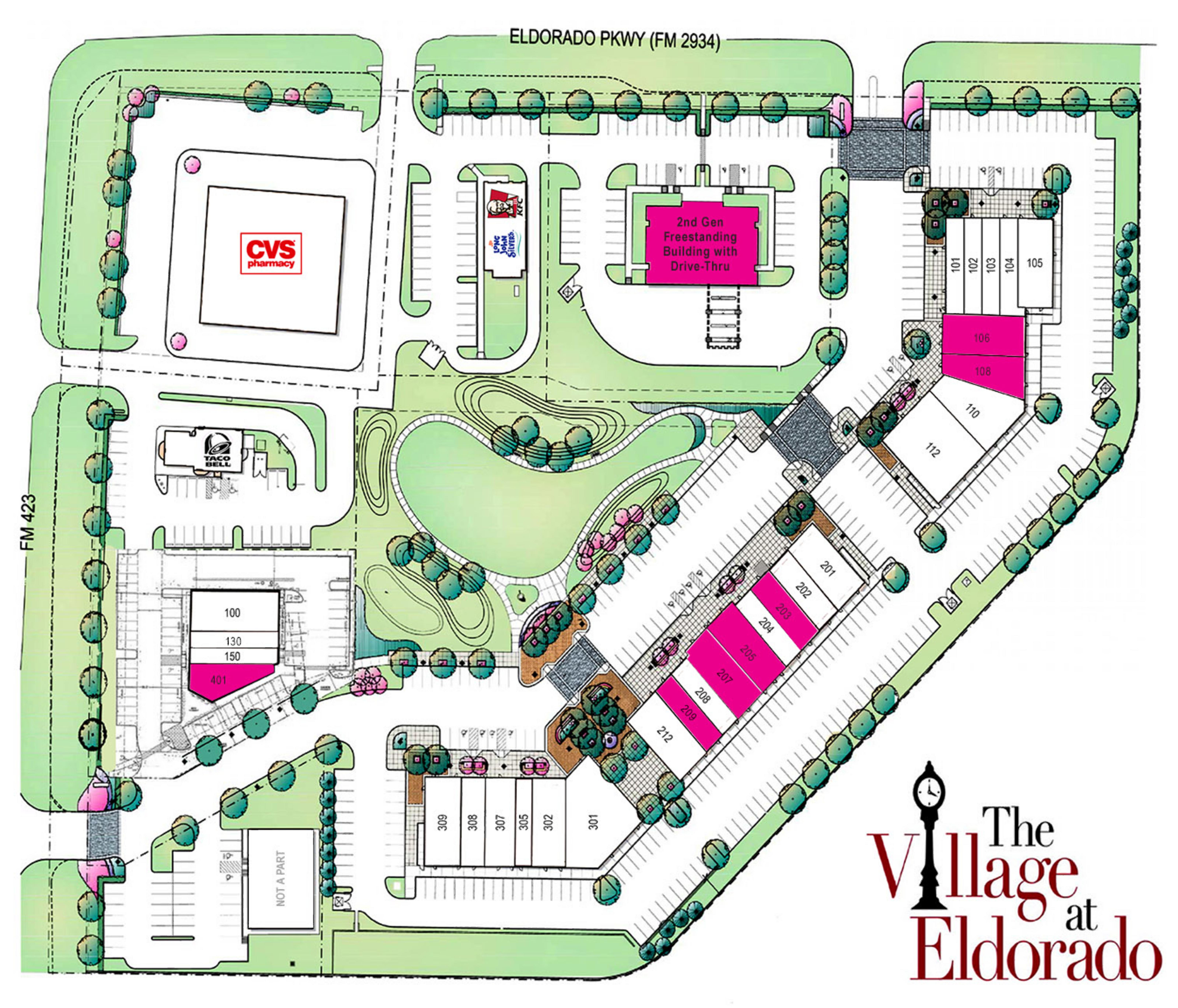 The Village at Eldorado: site plan