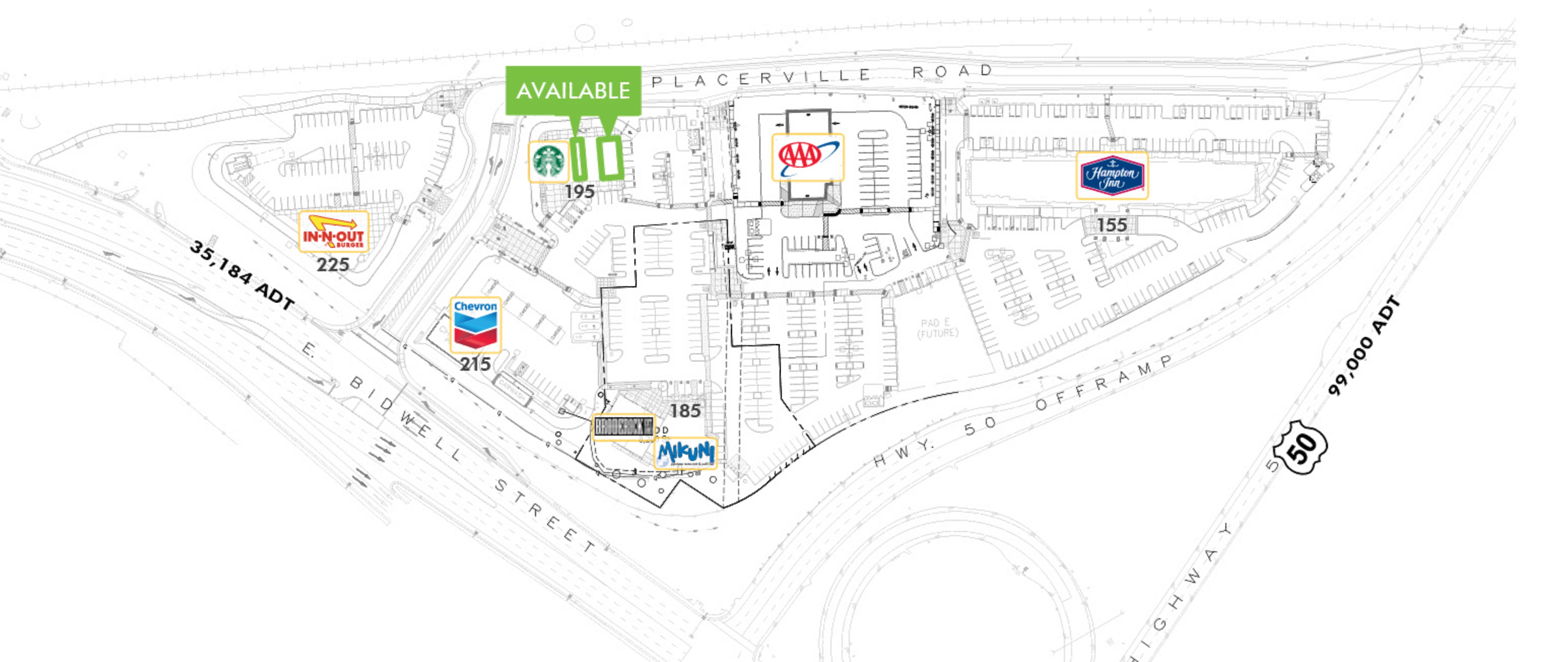 Folsom Pointe Pad Space: site plan
