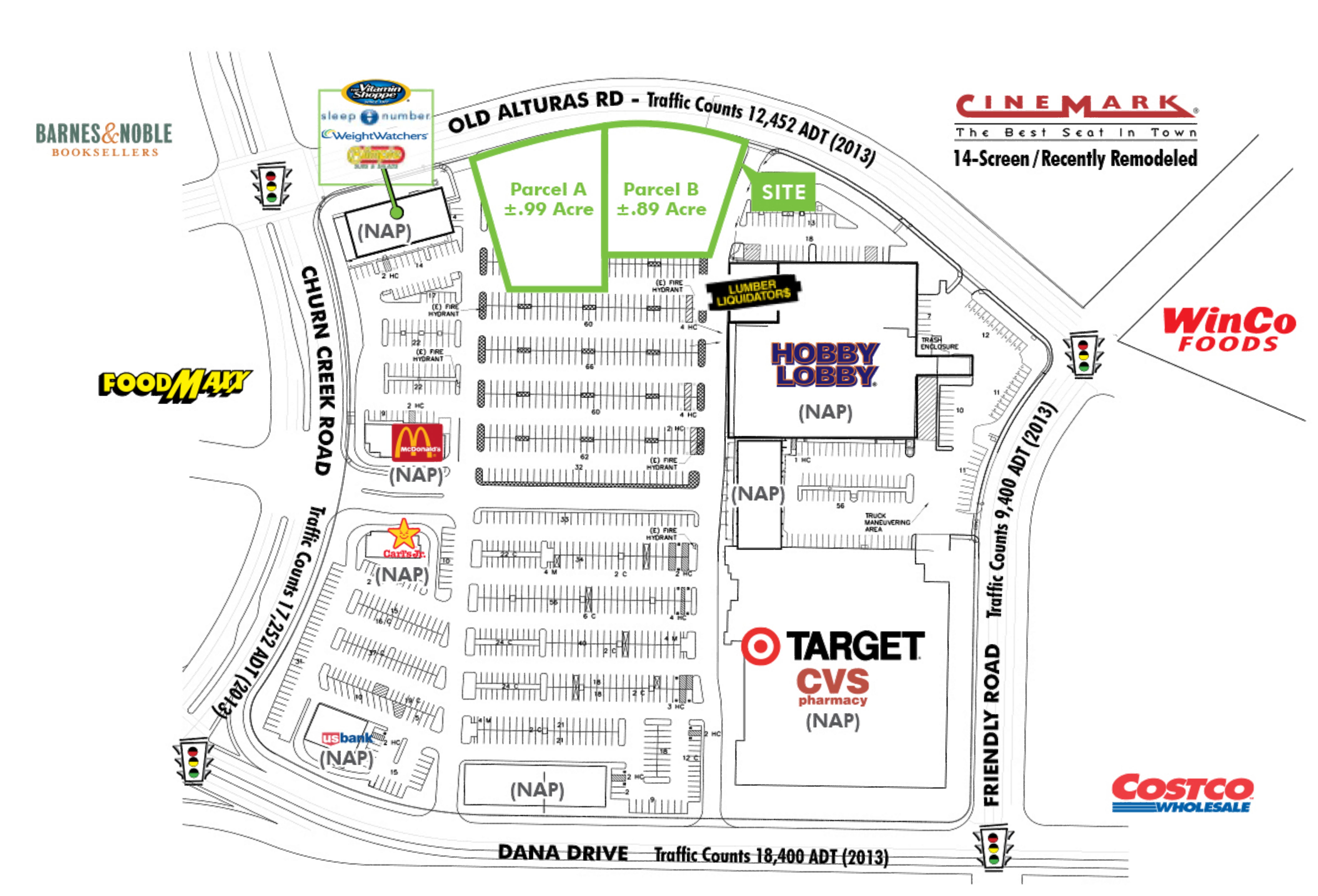 Shasta Crossroads Pads: site plan