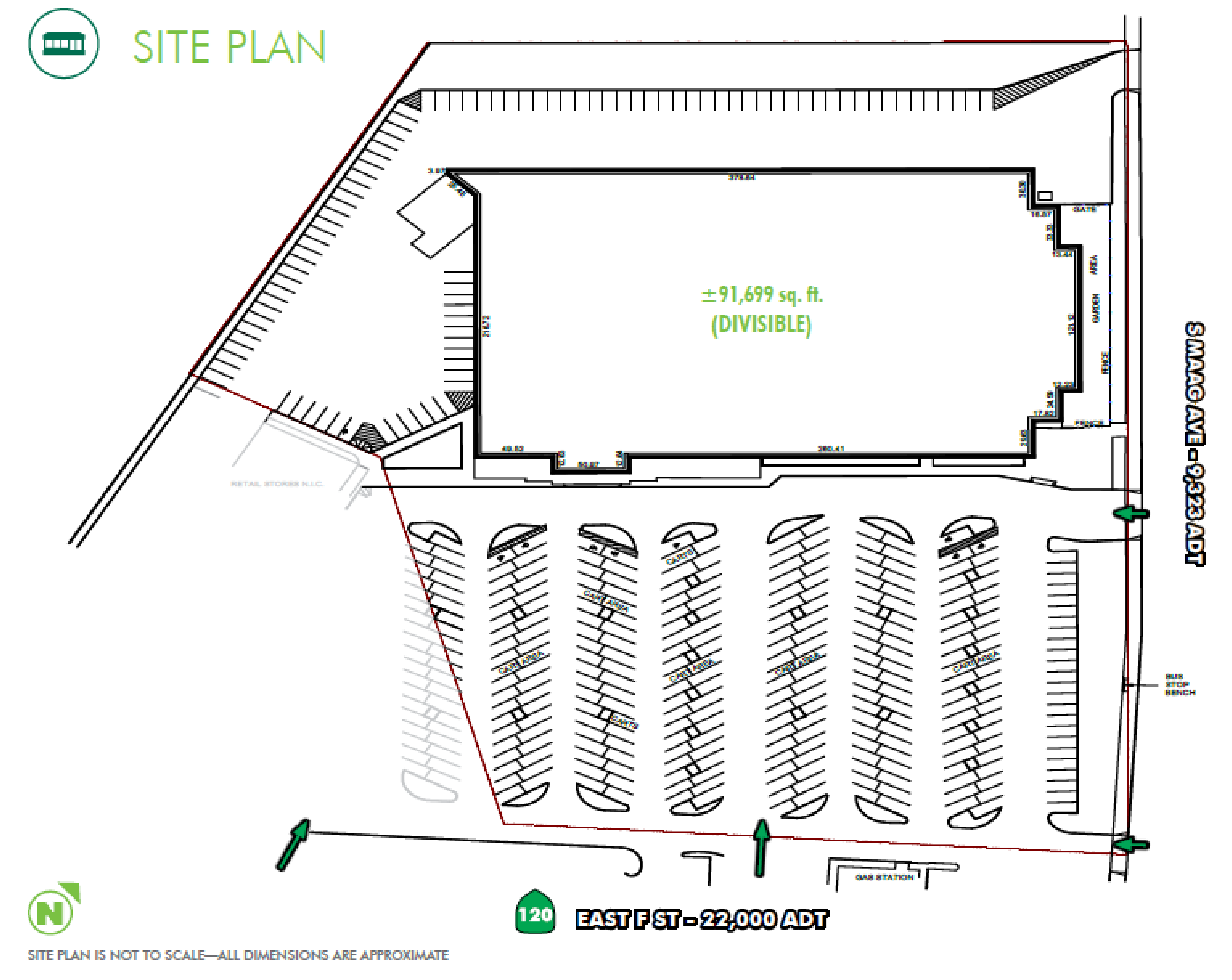 K-Mart Building: site plan