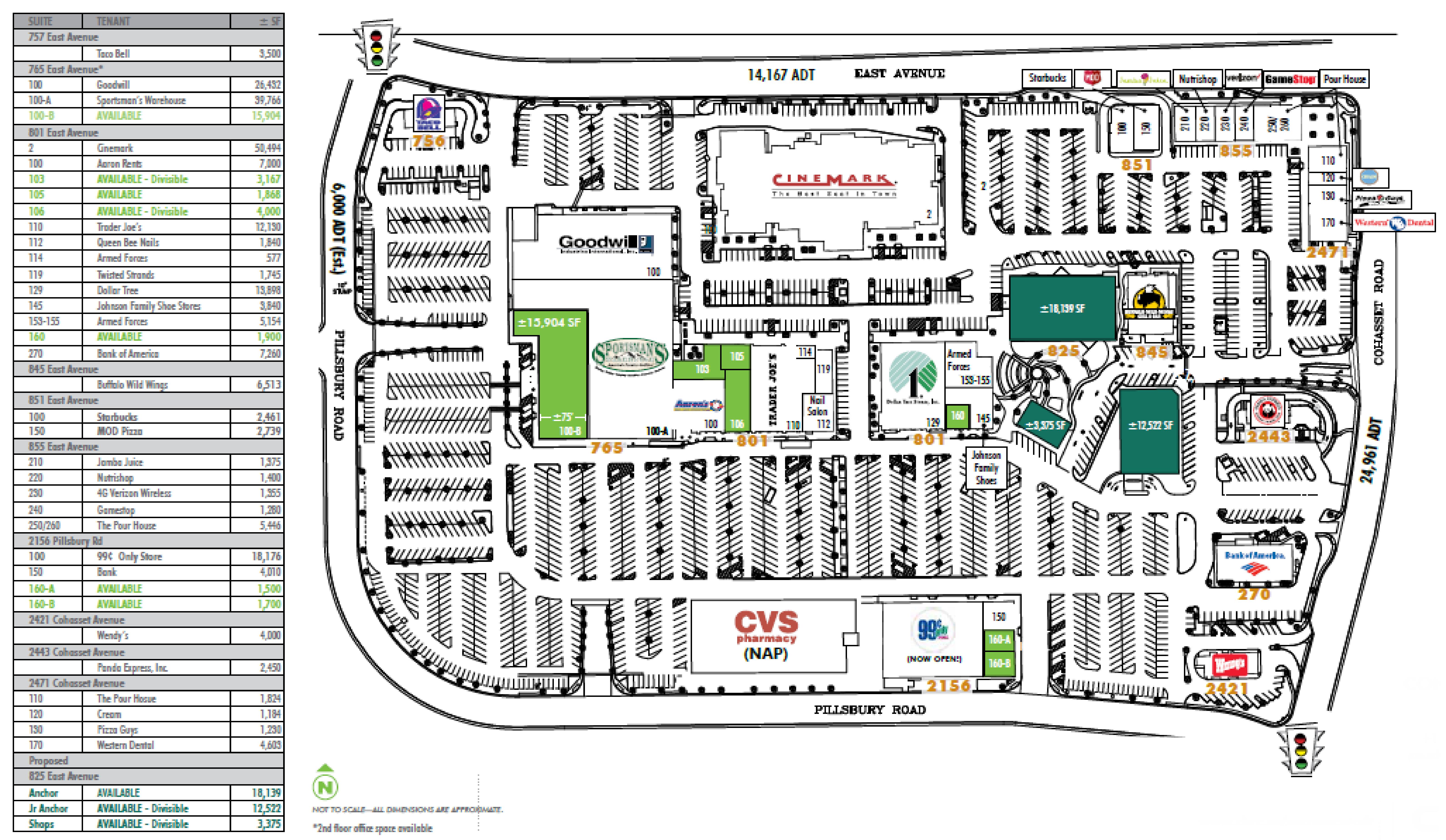 North Valley Plaza: site plan
