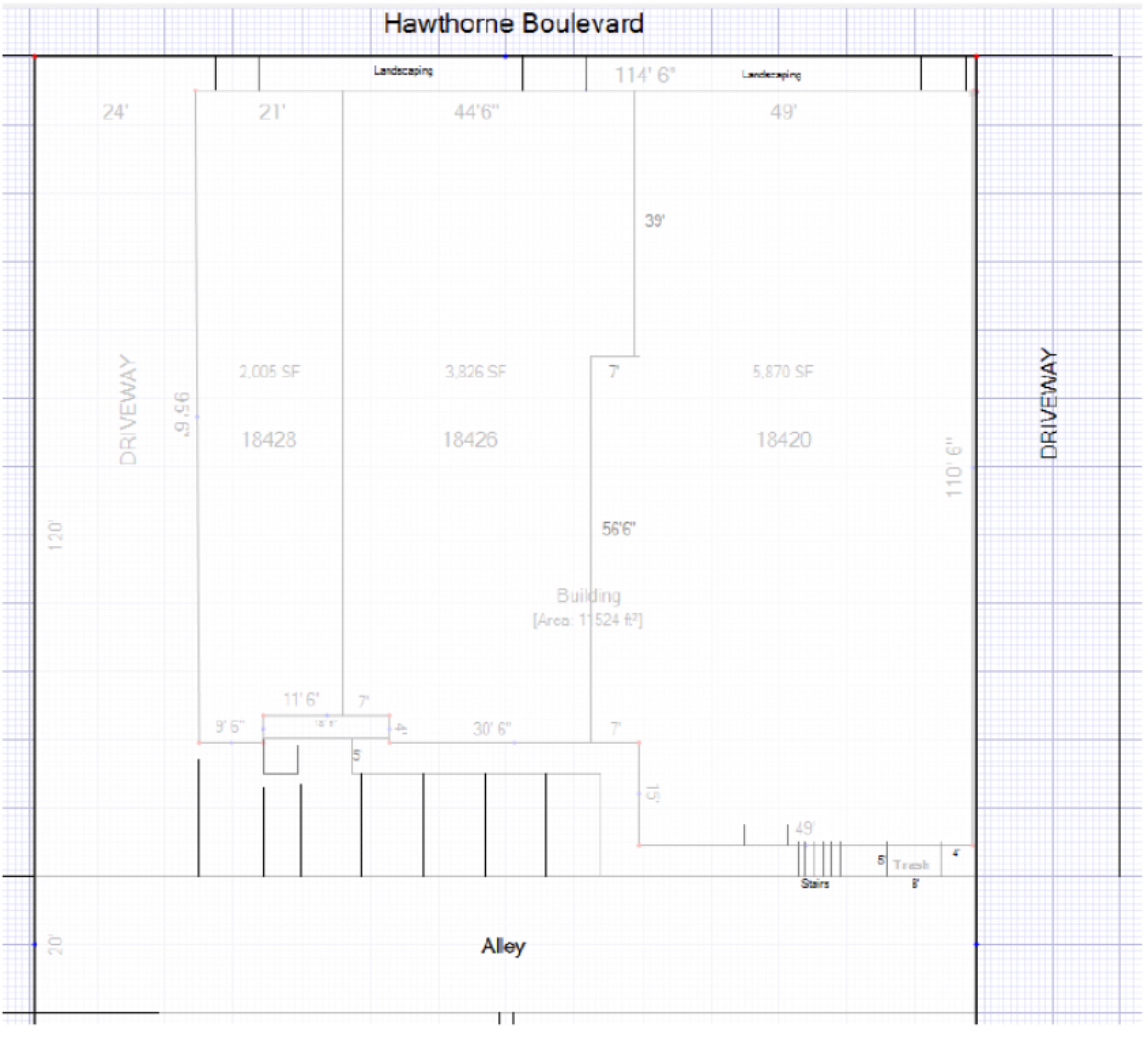 18420-18428 Hawthorne Boulevard: site plan