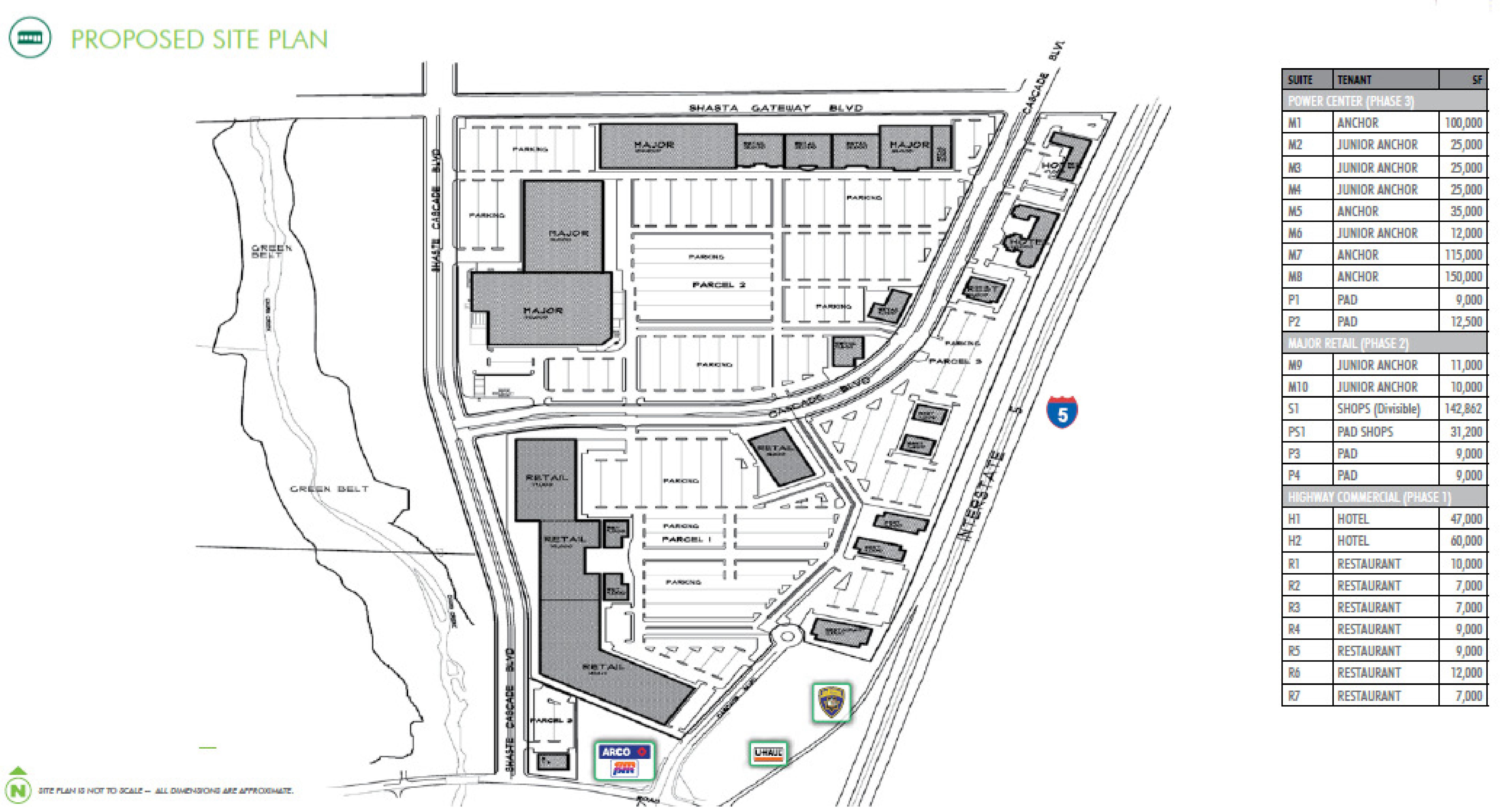 Oasis Promenade: site plan
