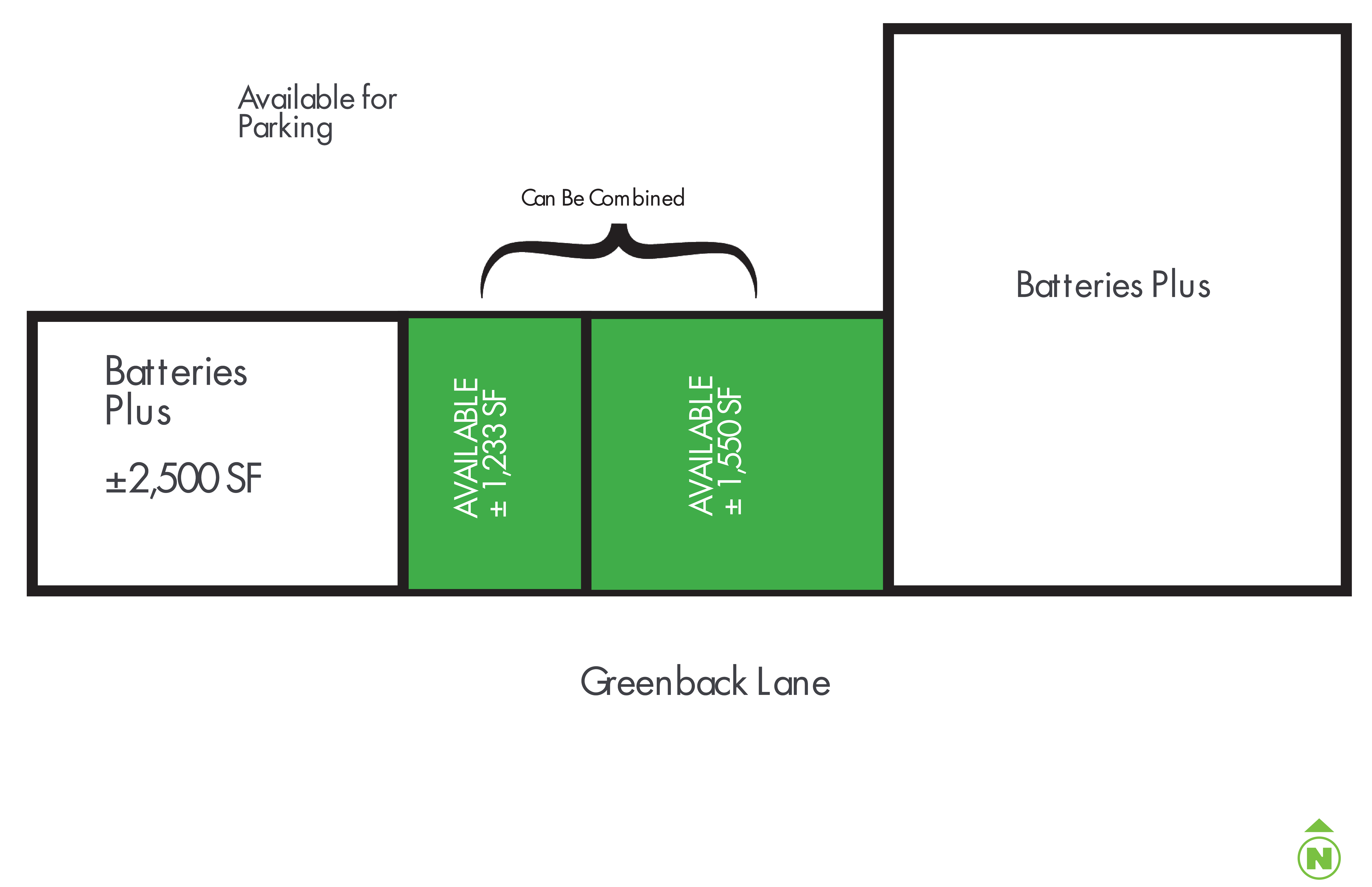 8025 Greenback Lane: site plan