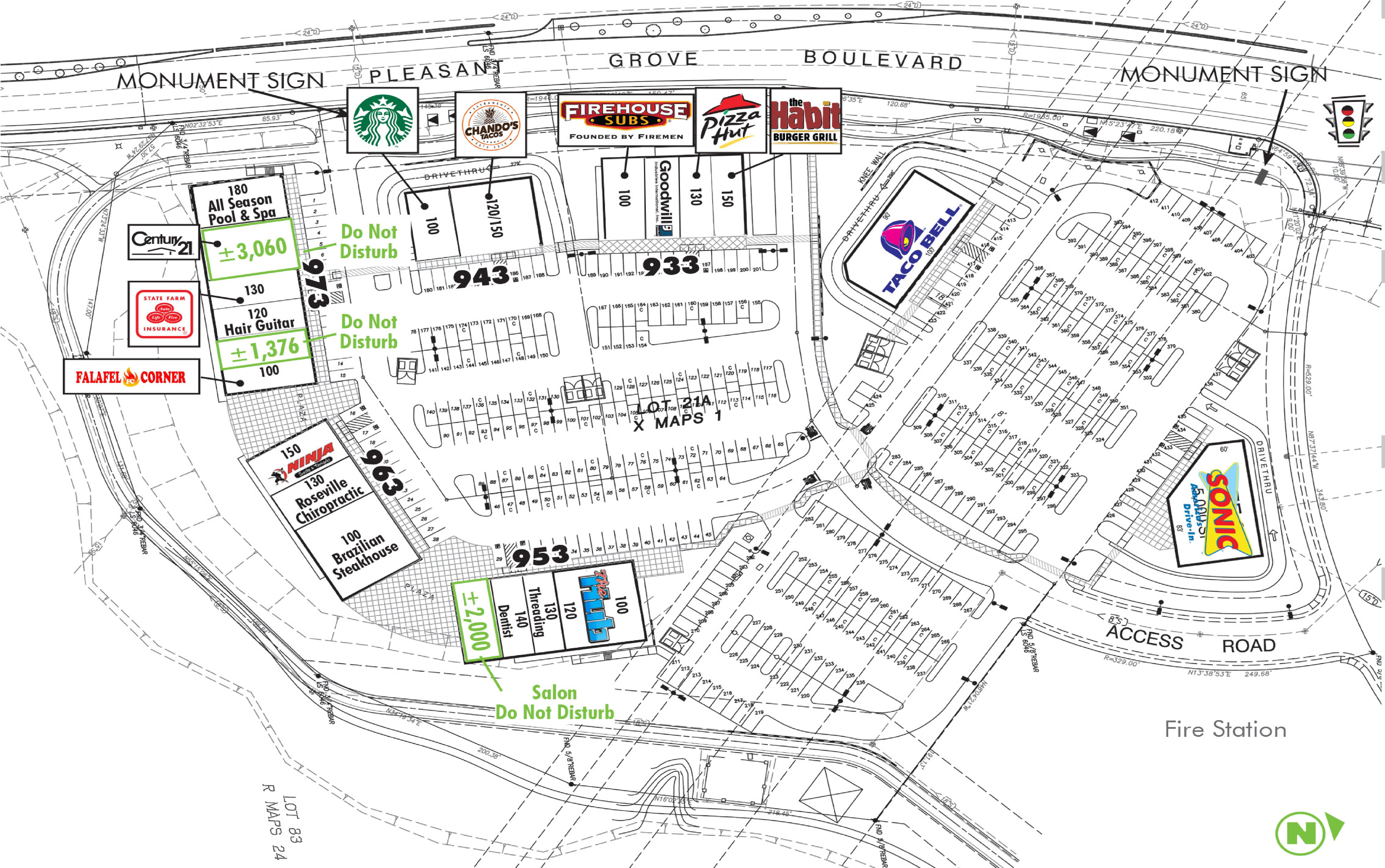 Pleasant Grove Pointe: site plan