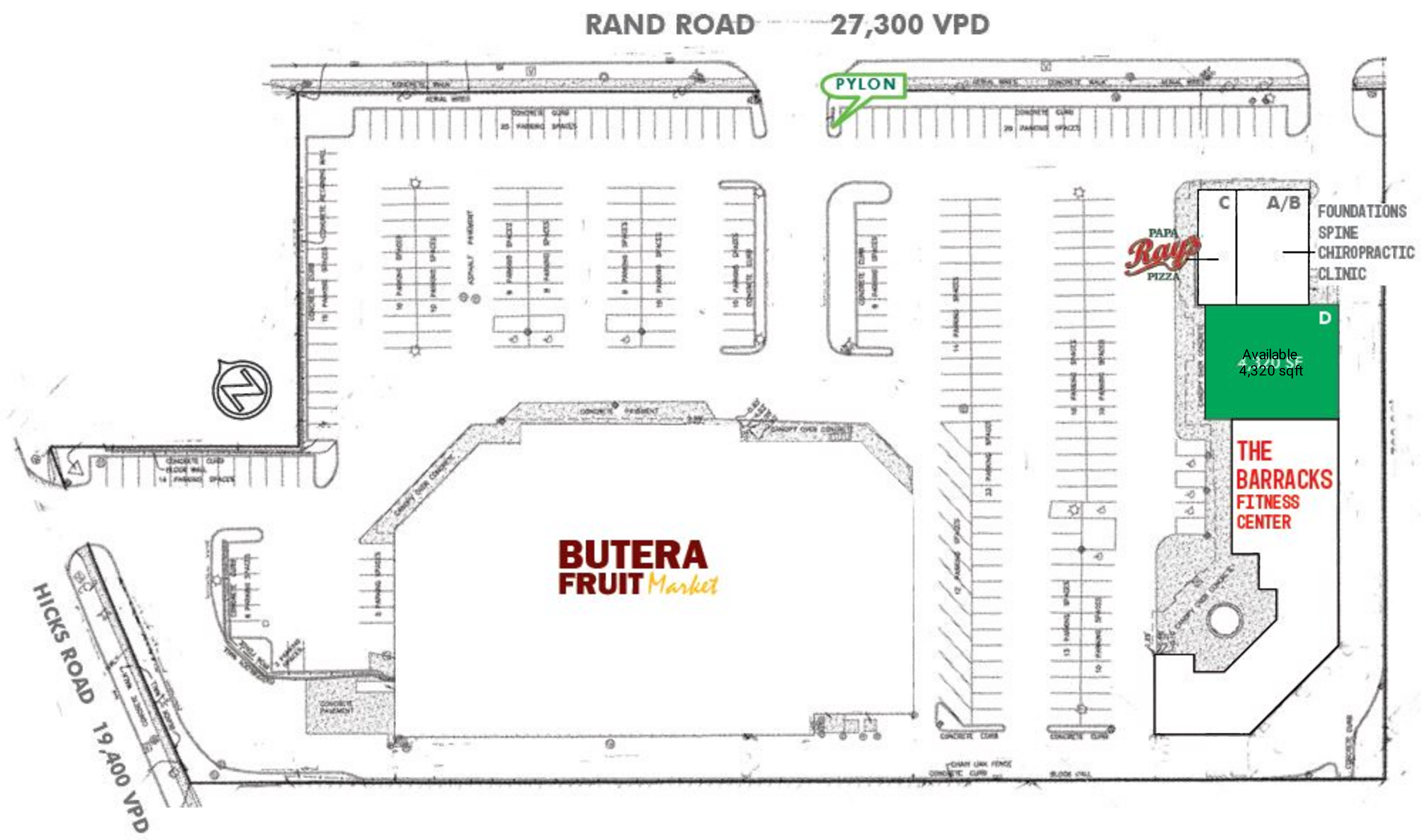 Foxfire Plaza: site plan