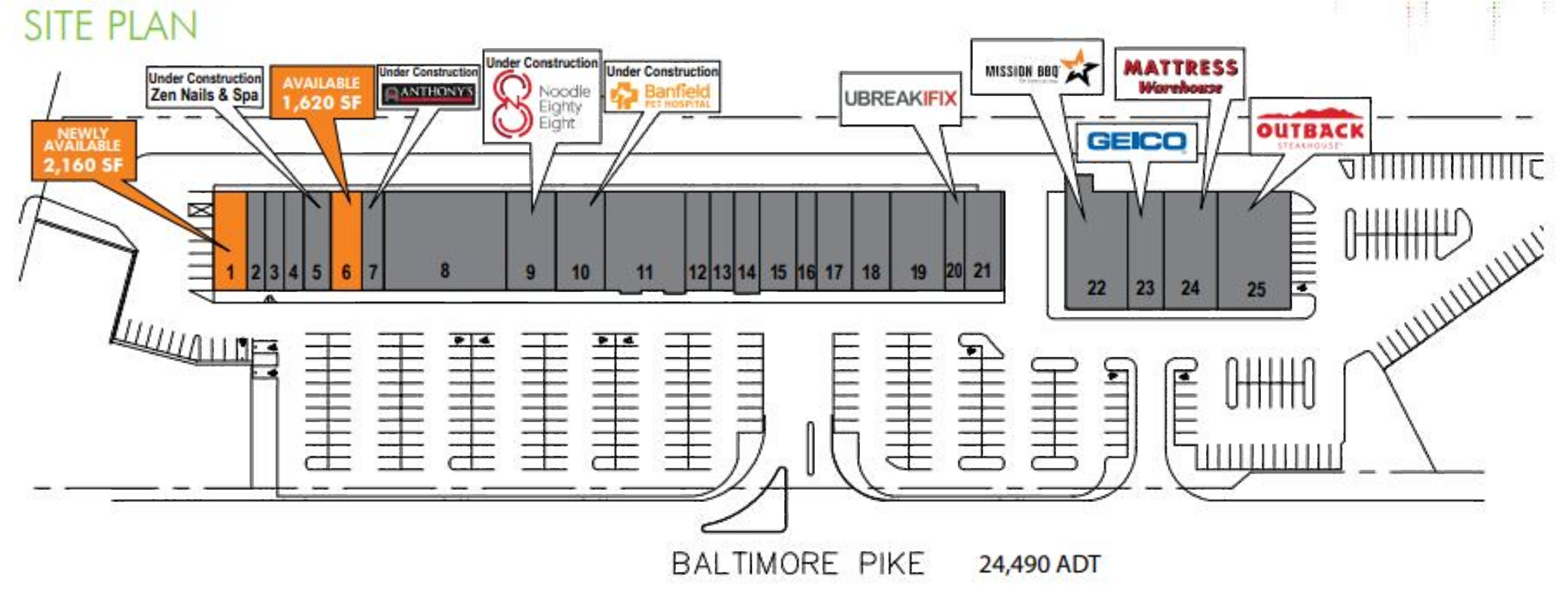 Olde Sproul Shopping Village : site plan